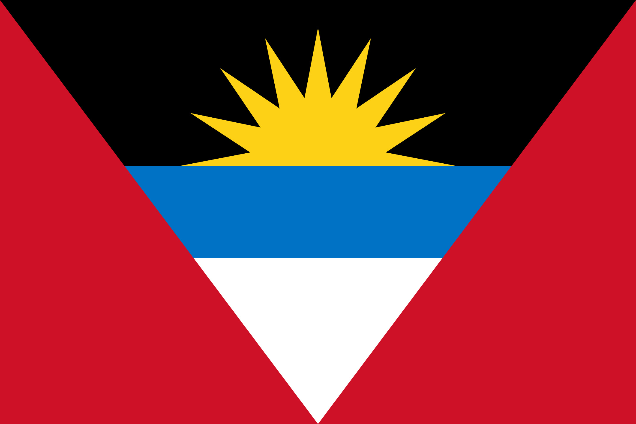 Antigua_and_Barbuda Flag Colours