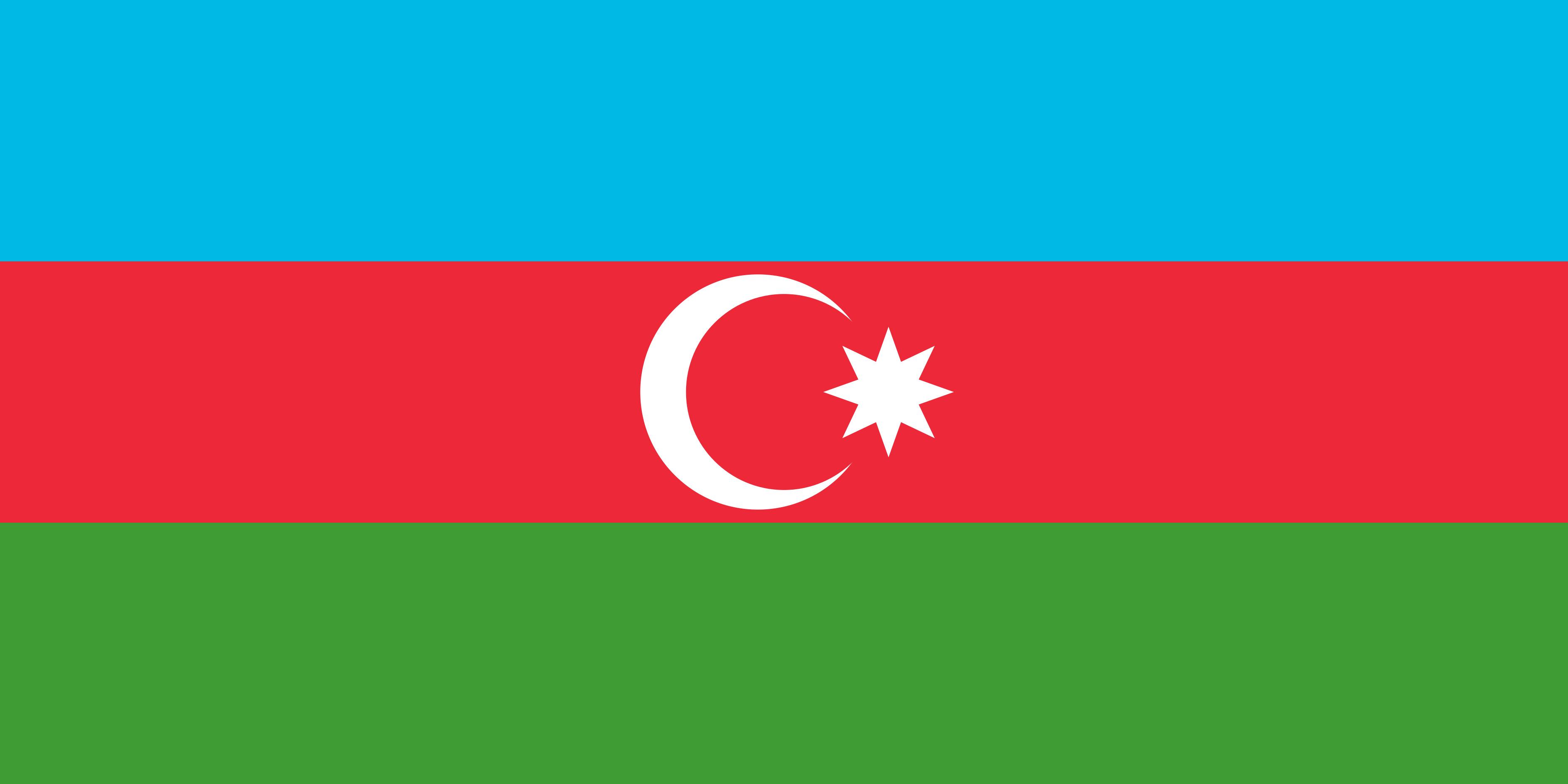 Azerbaijan Flag Colours