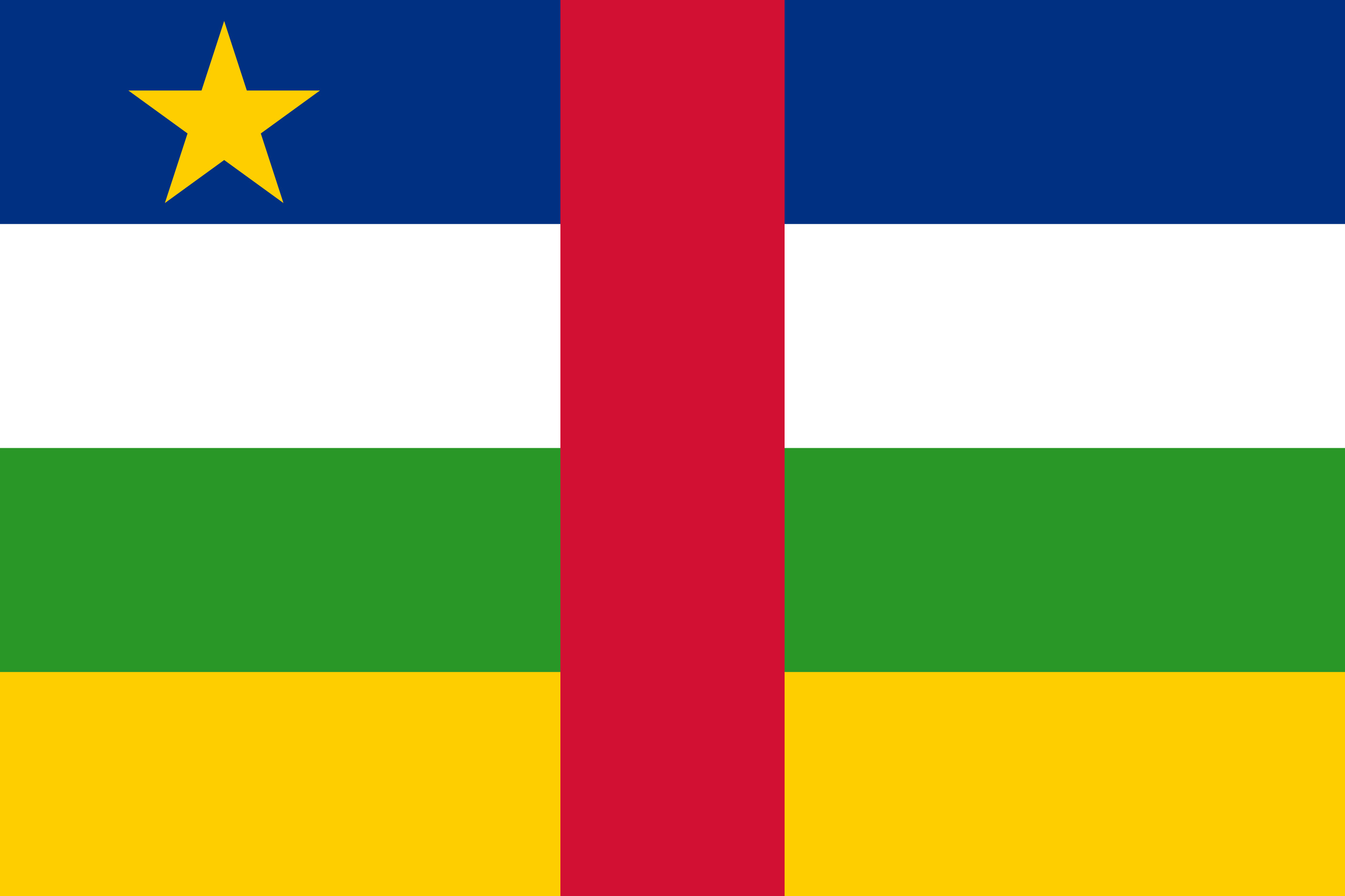 Central_African_Republic Flag Colours