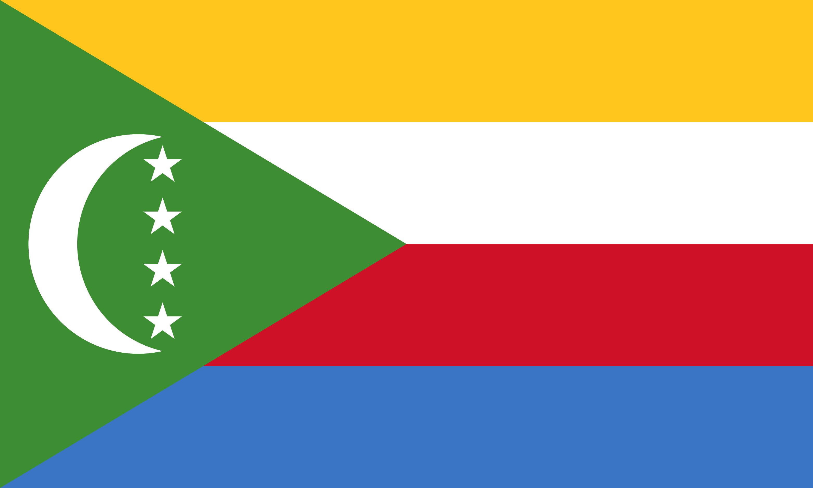 Comoros Flag Colours