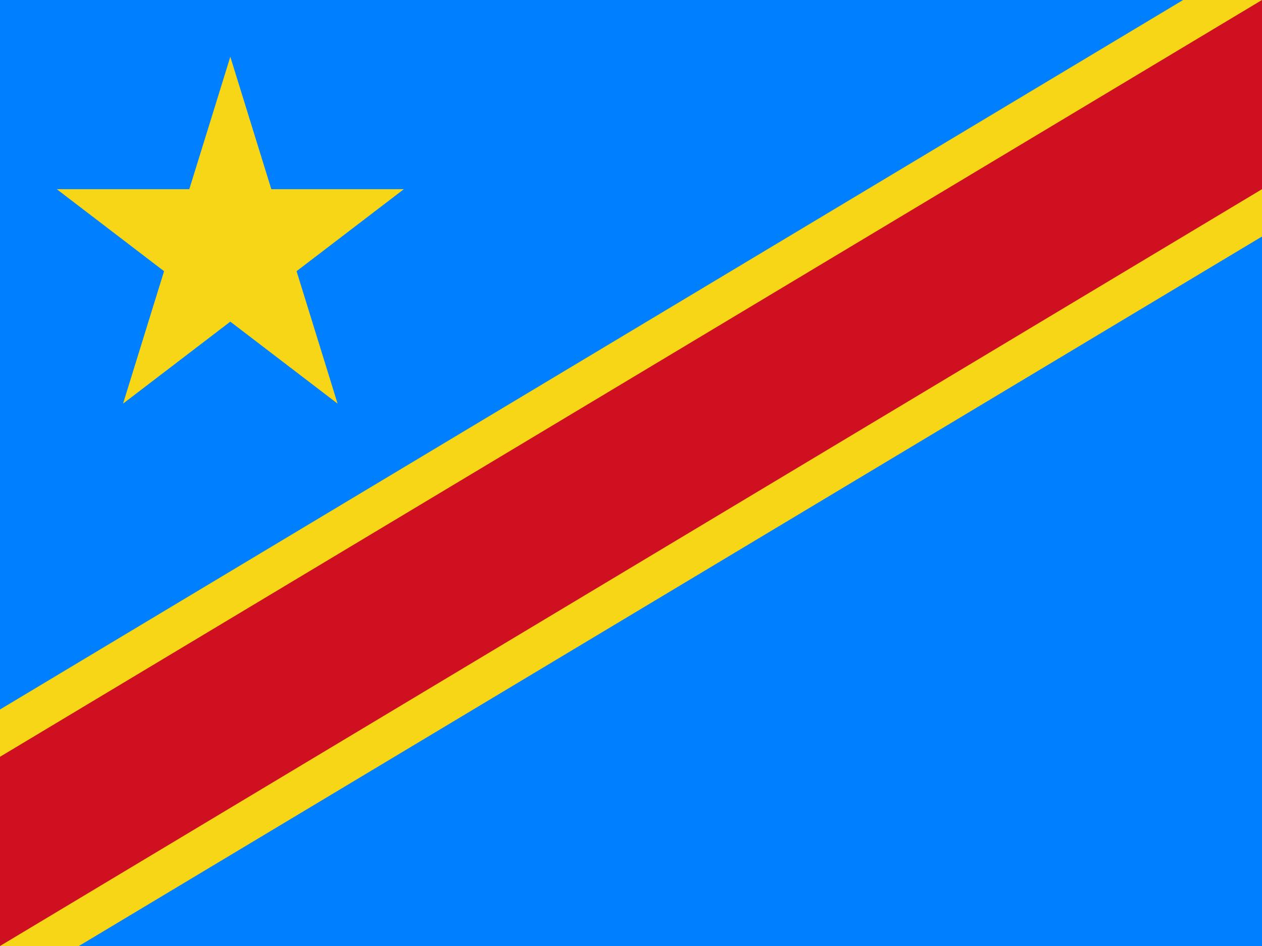 Congo Flag Colours