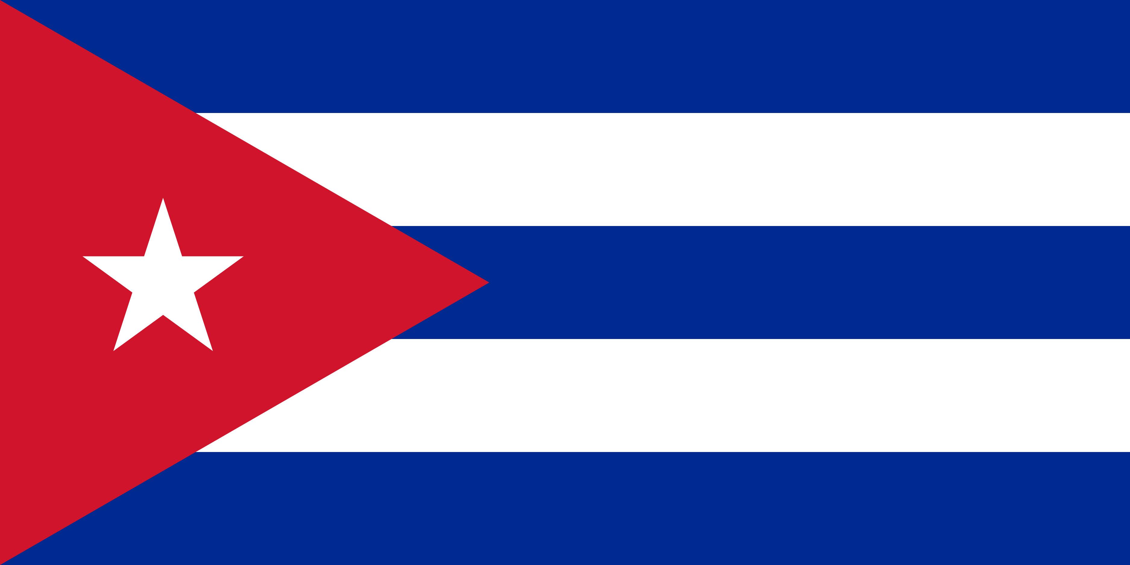 Cuba Flag Colours