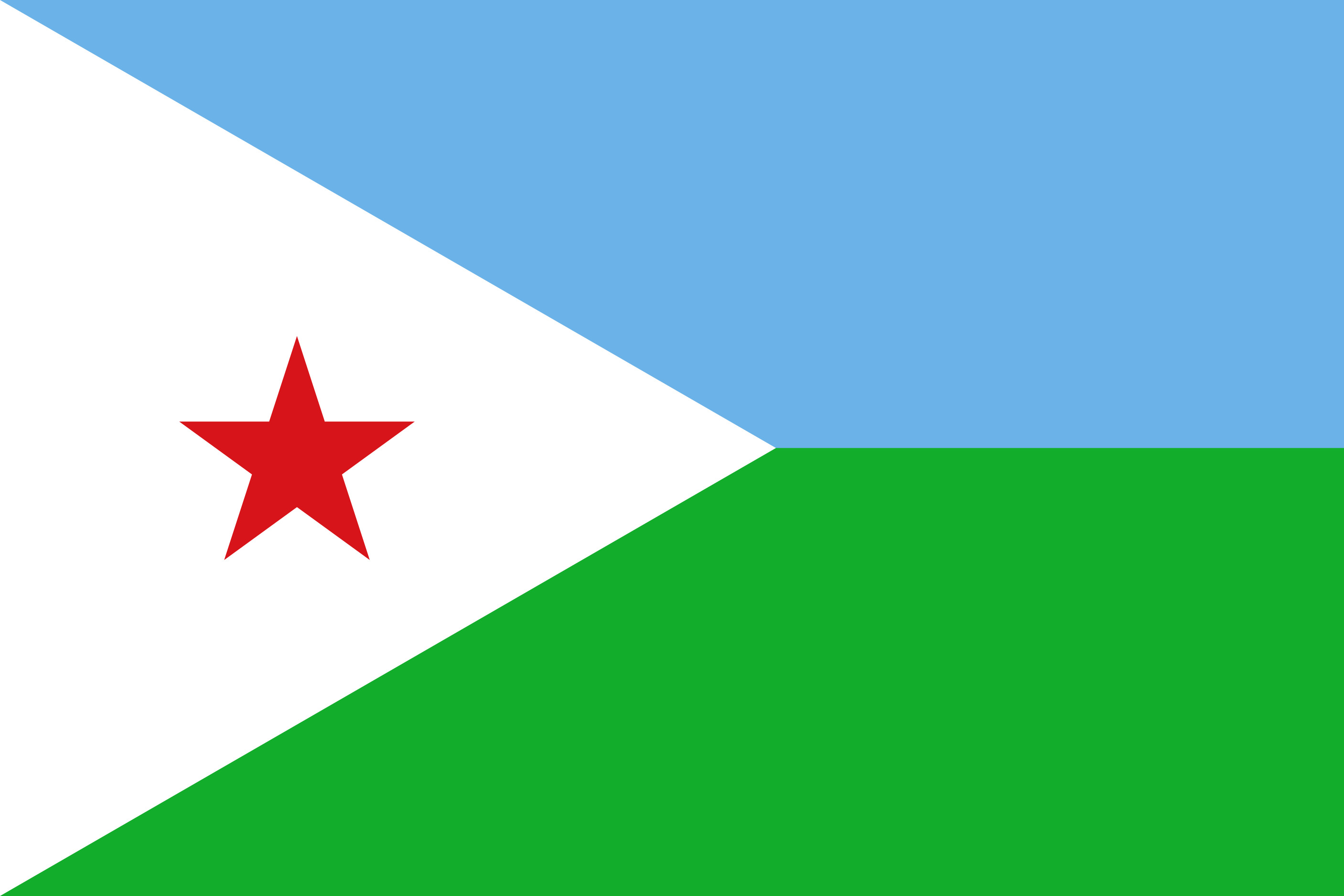 Djibouti Flag Colours