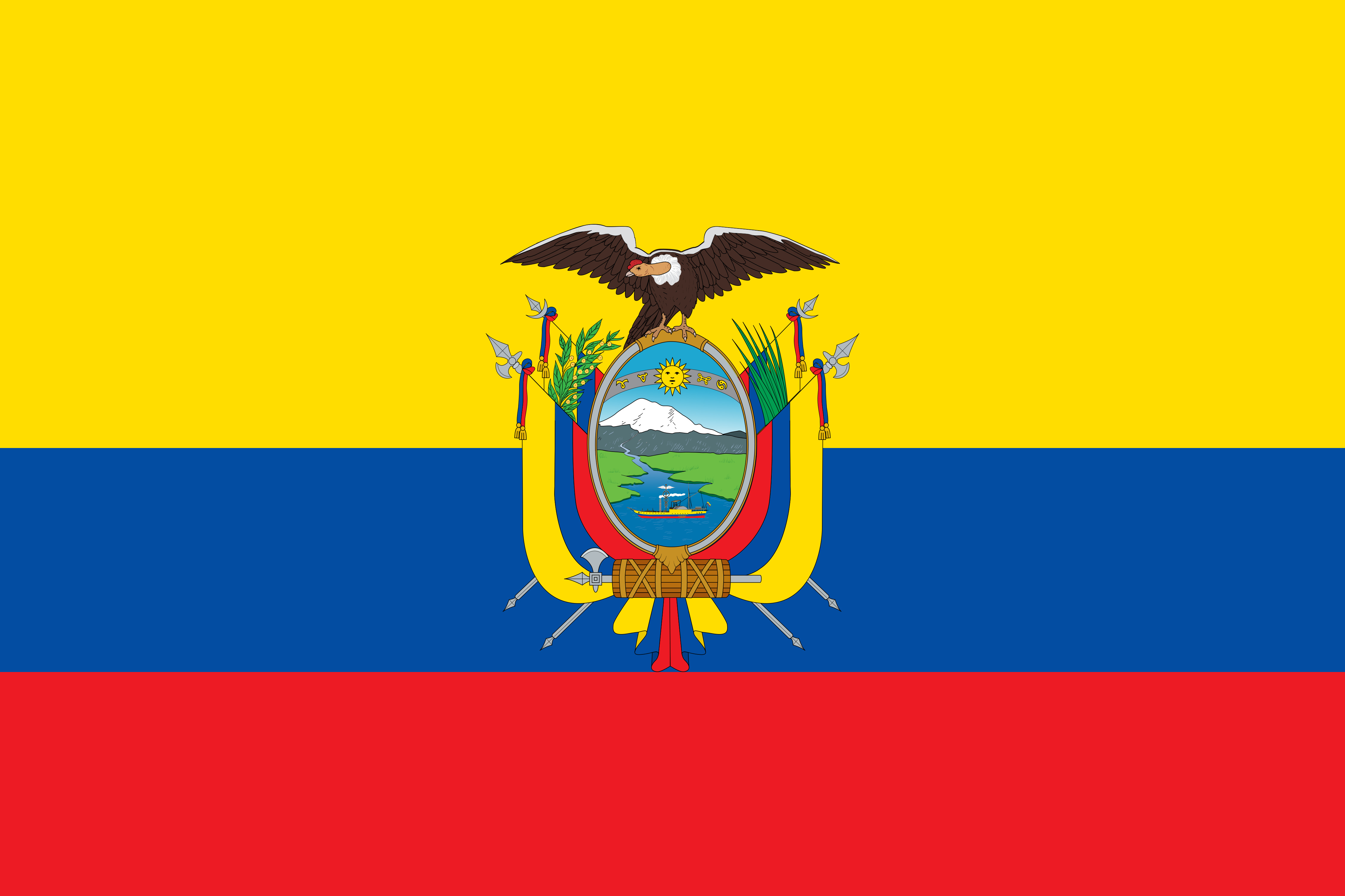 Ecuador Flag Colours