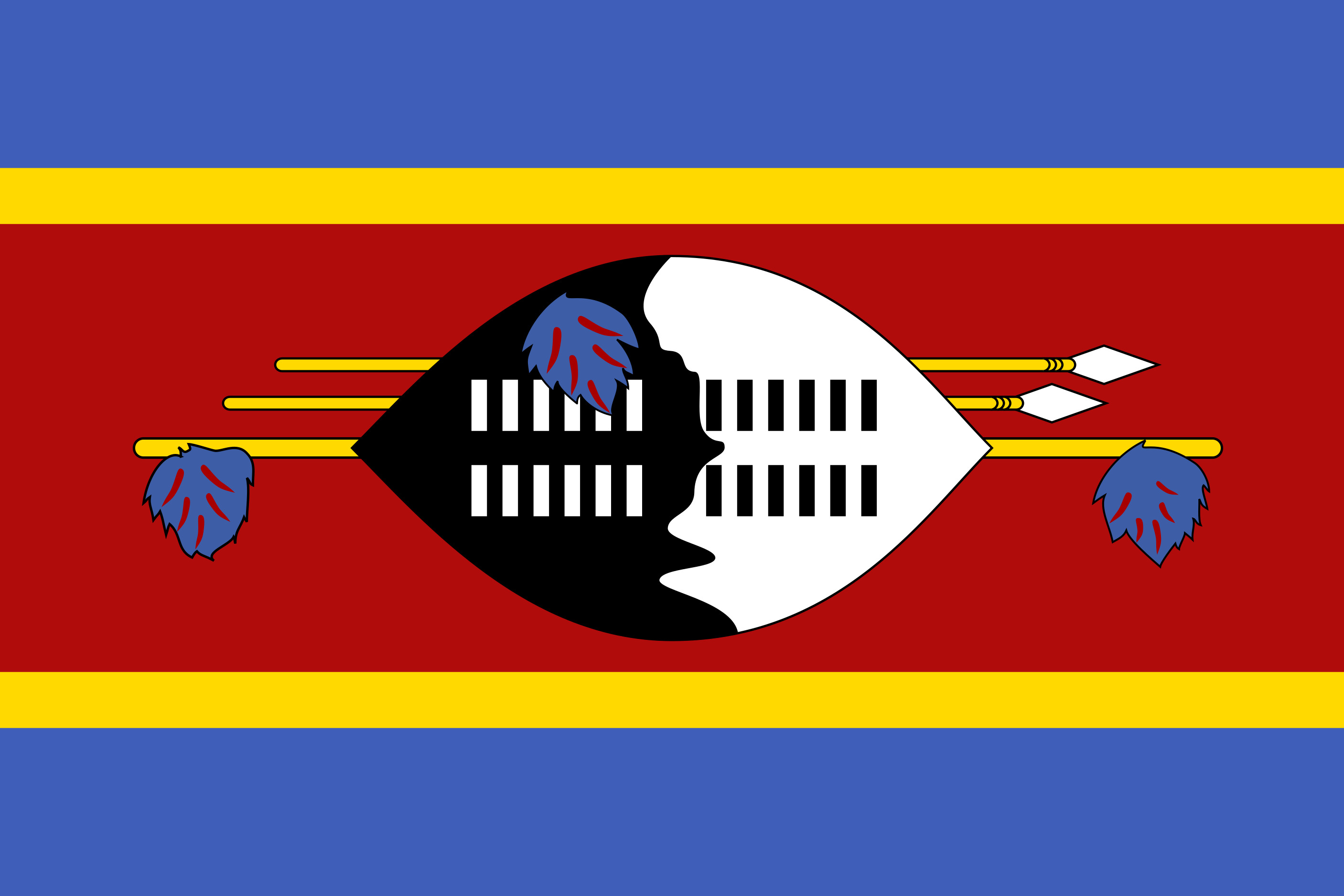 Eswatini Flag Colours