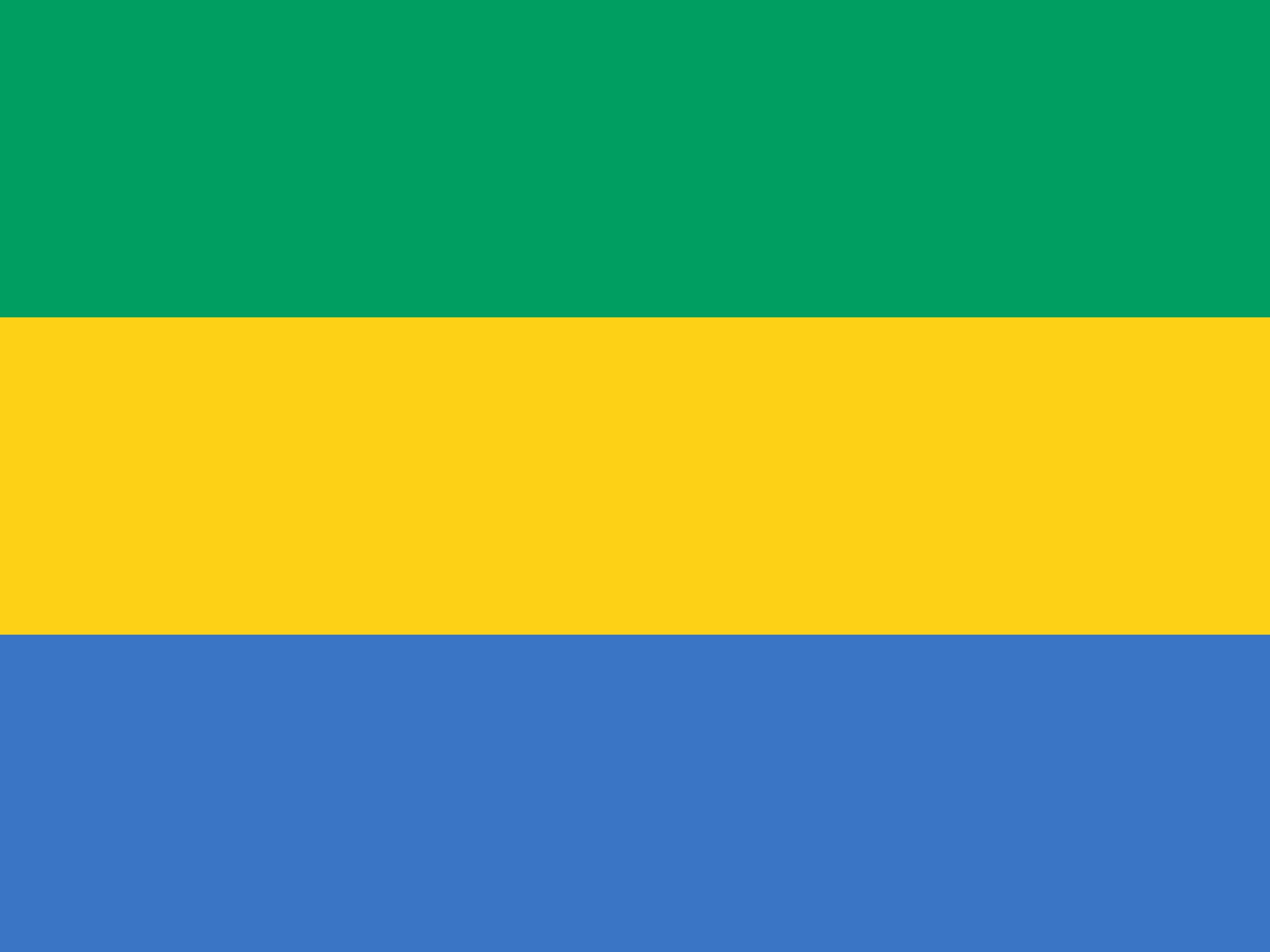 Gabon Flag Colours