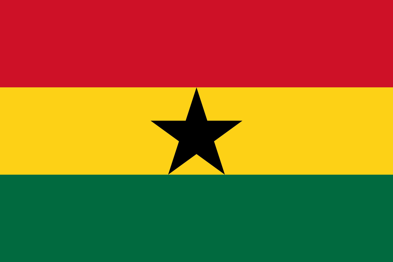 Ghana Flag Colours