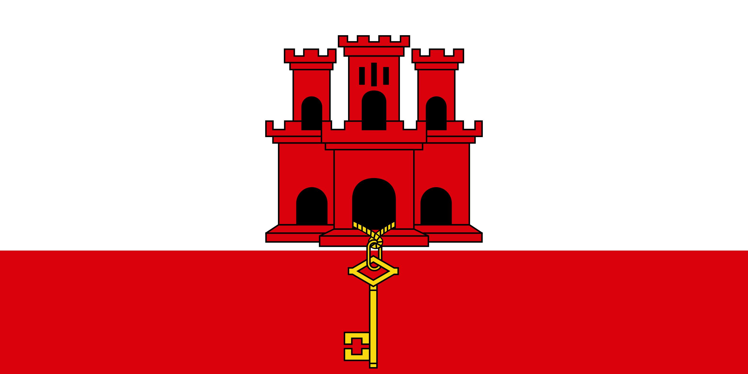 Gibraltar Flag Colours