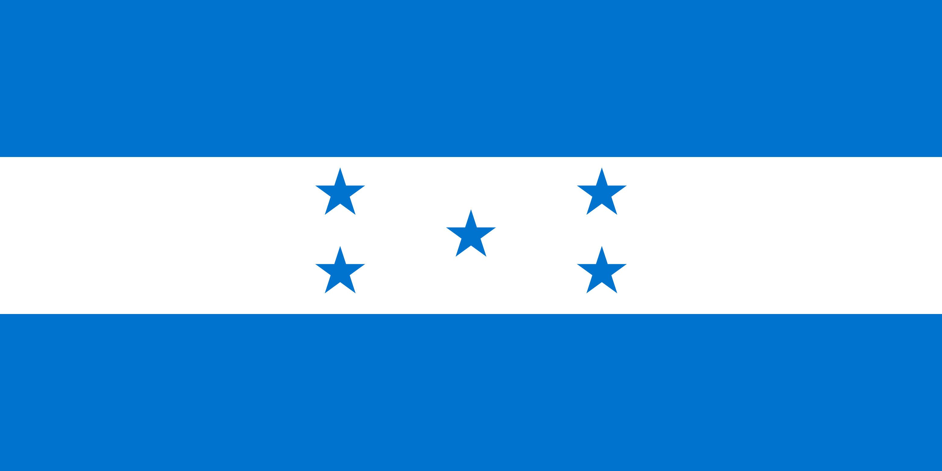 Honduras Flag Colours