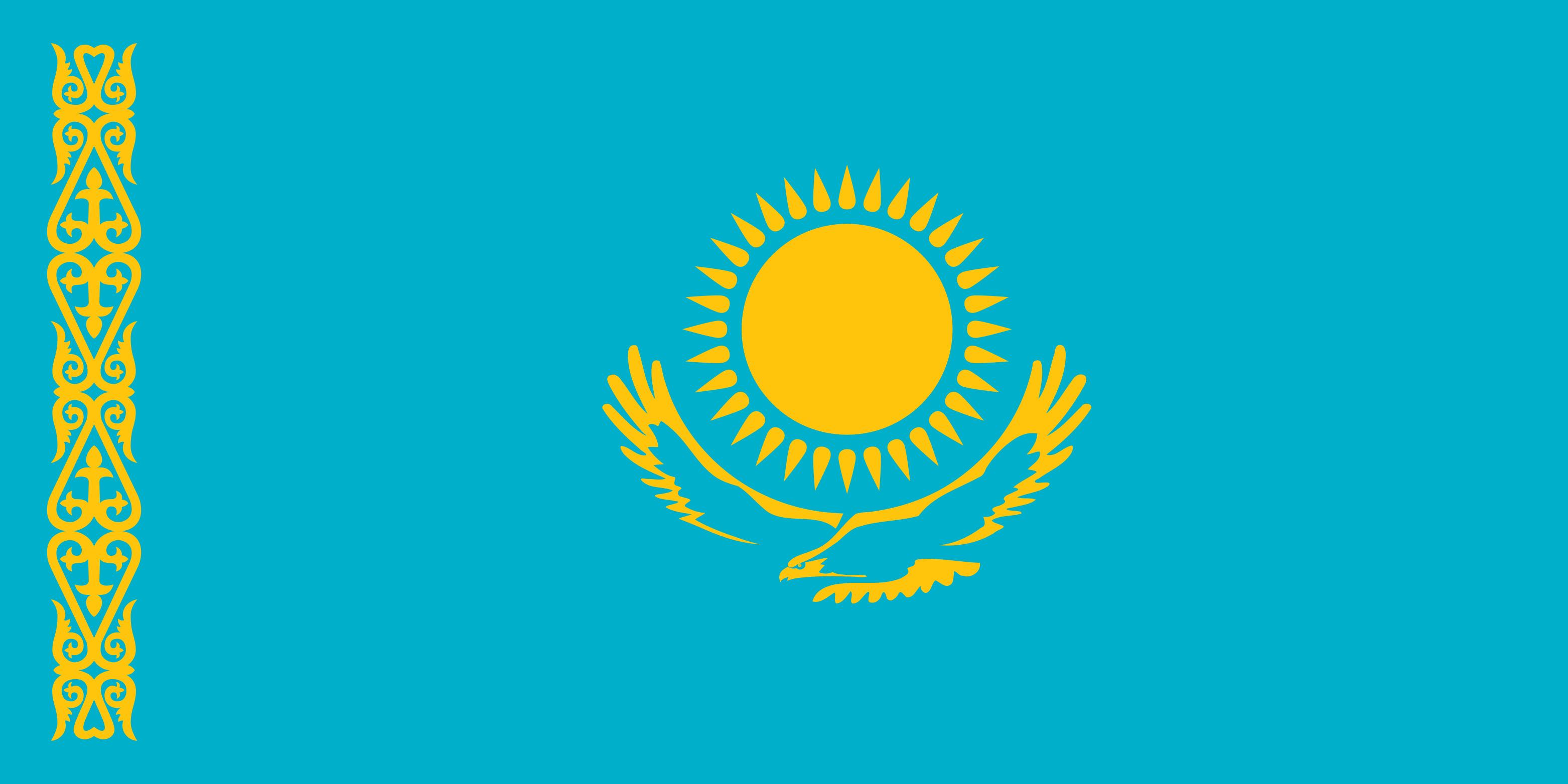 Kazakhstan Flag Colours
