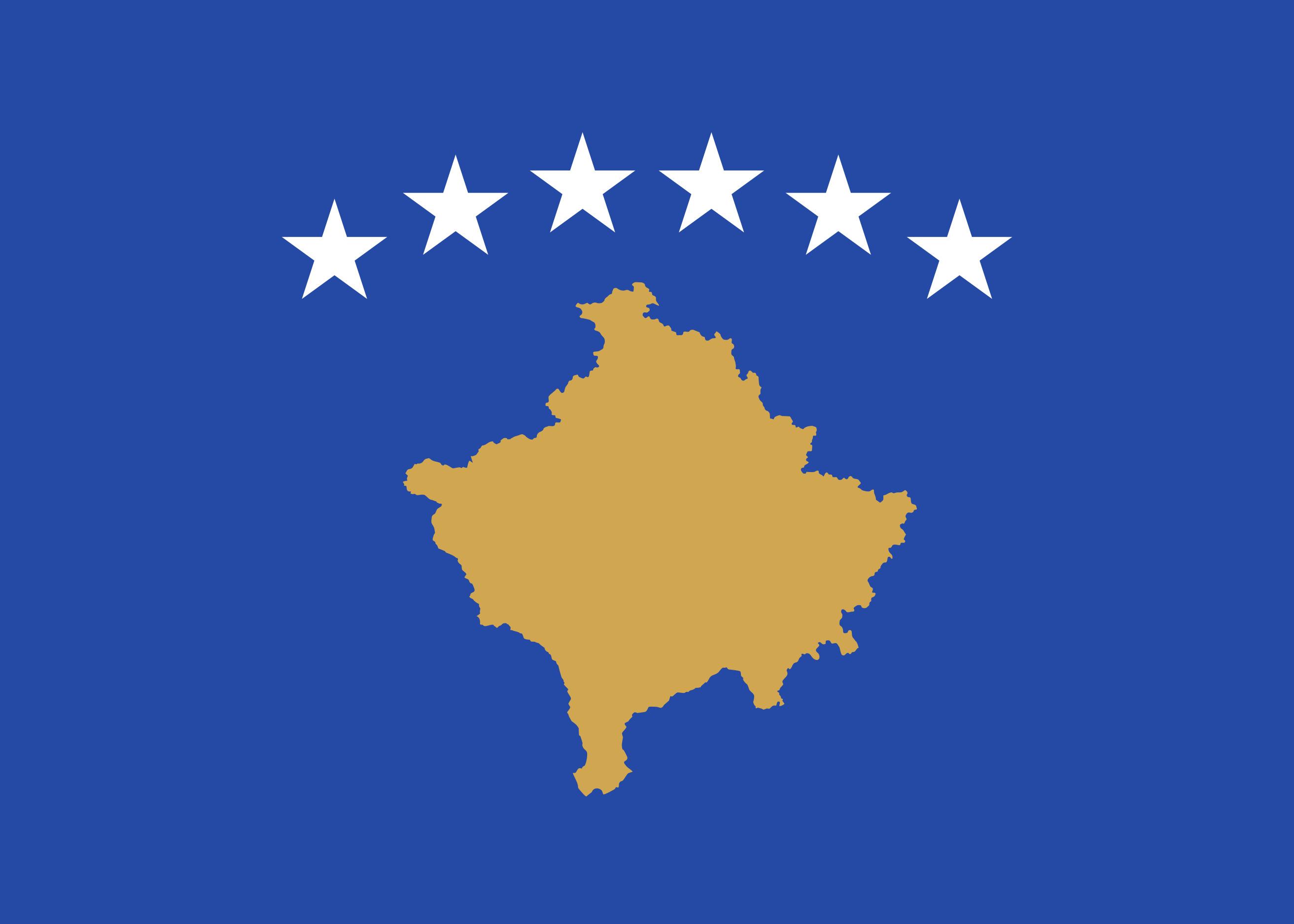 Kosovo Flag Colours
