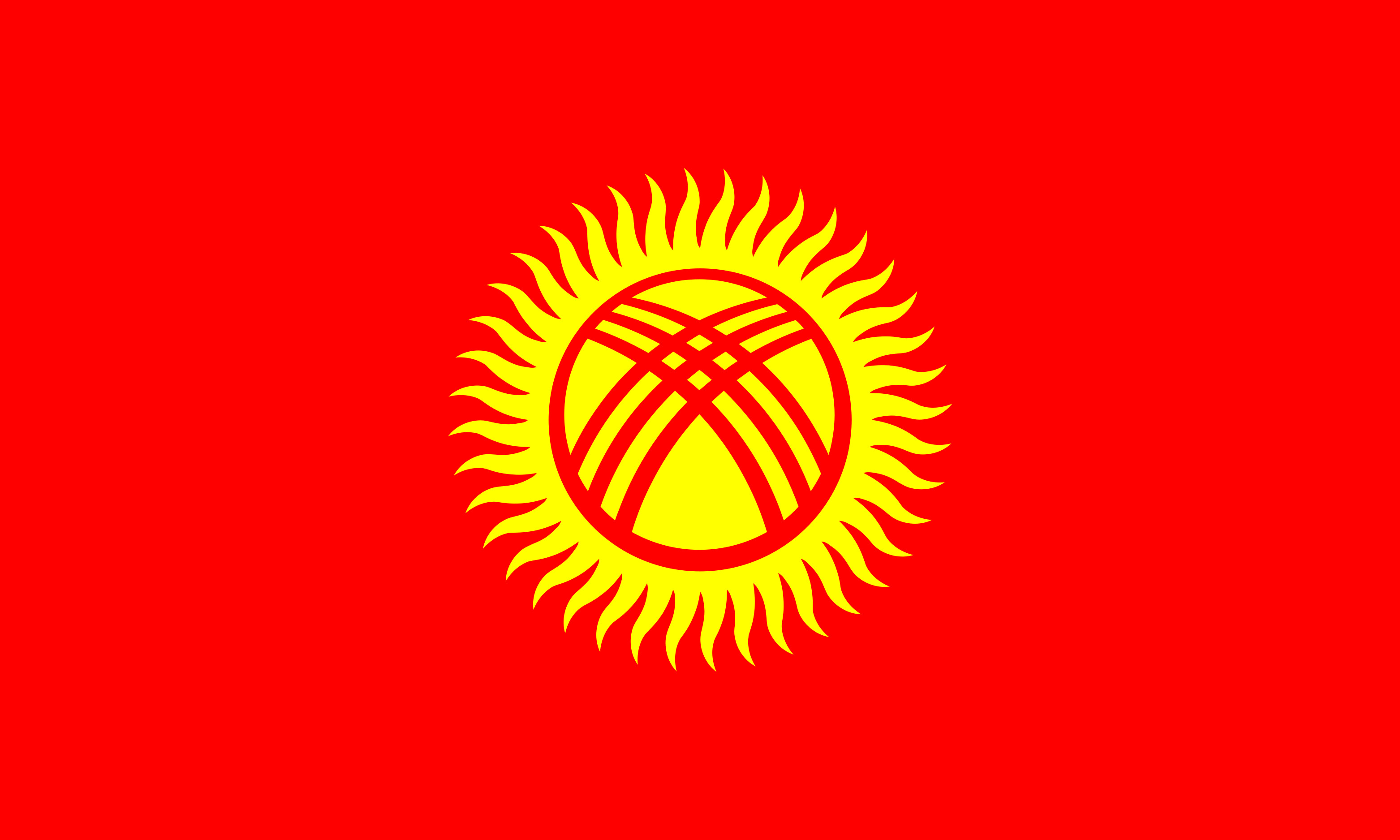 Kyrgyzstan Flag Colours