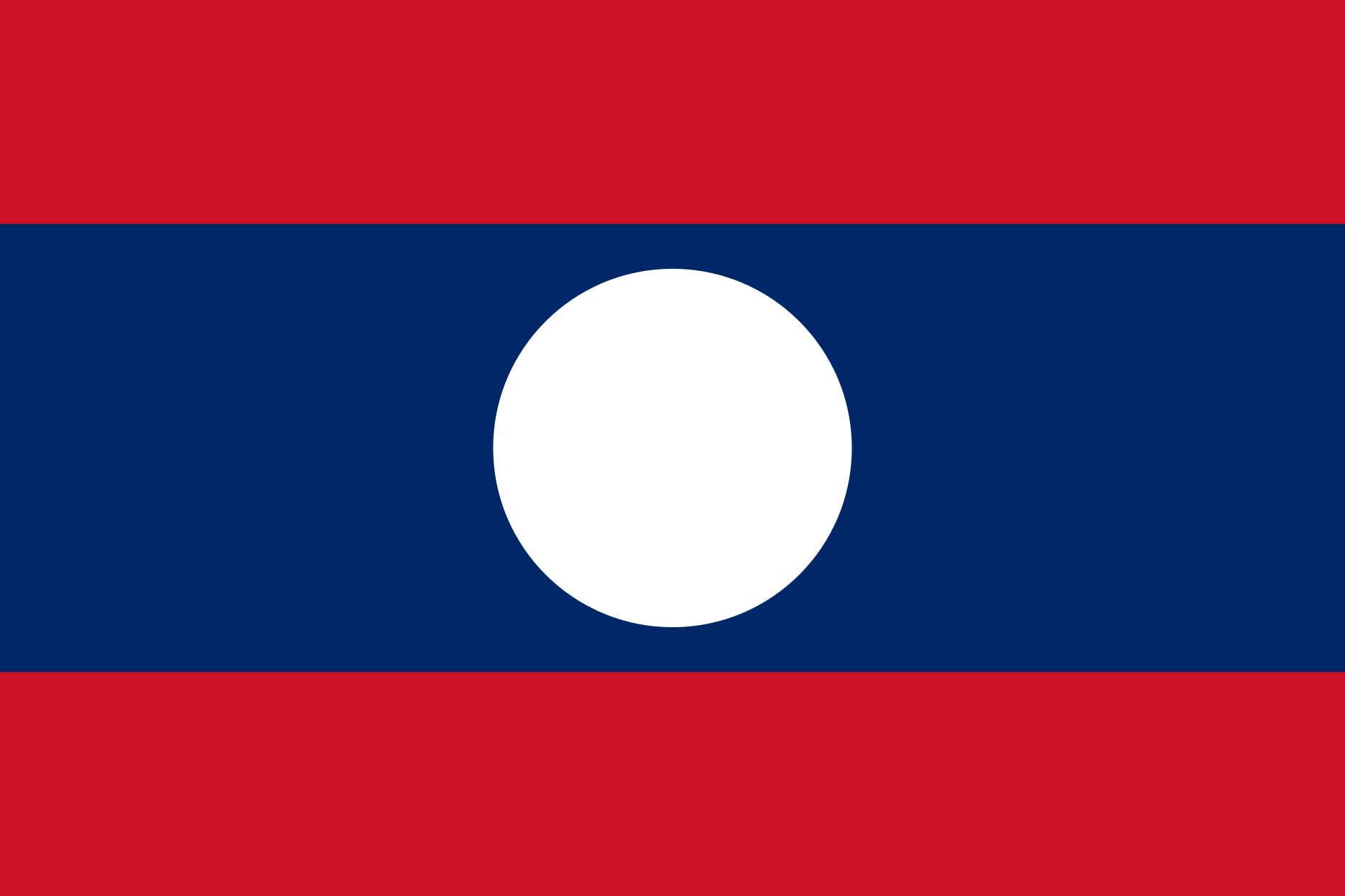 Laos Flag Colours