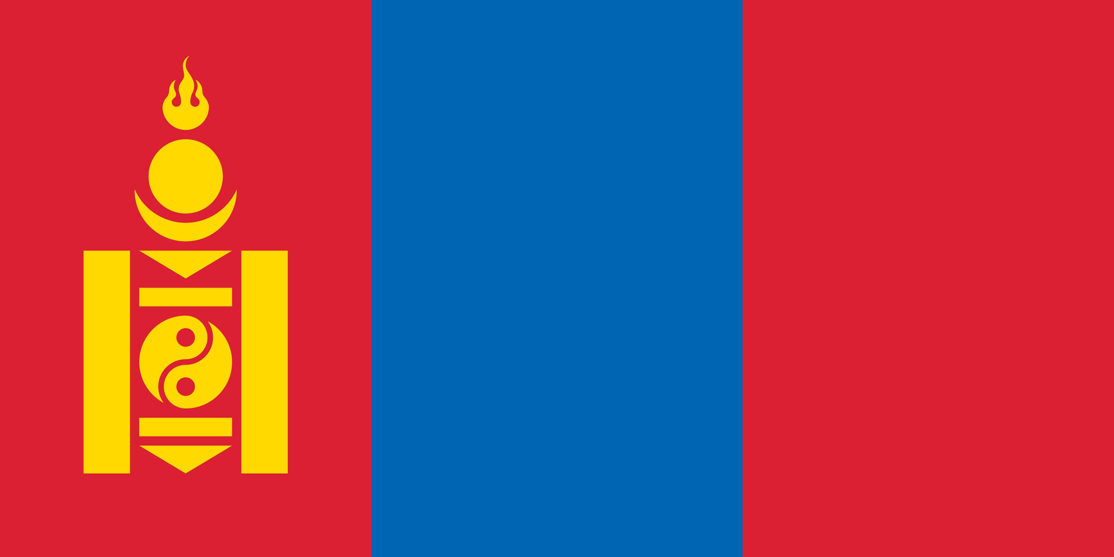 Mongolia Flag Colours