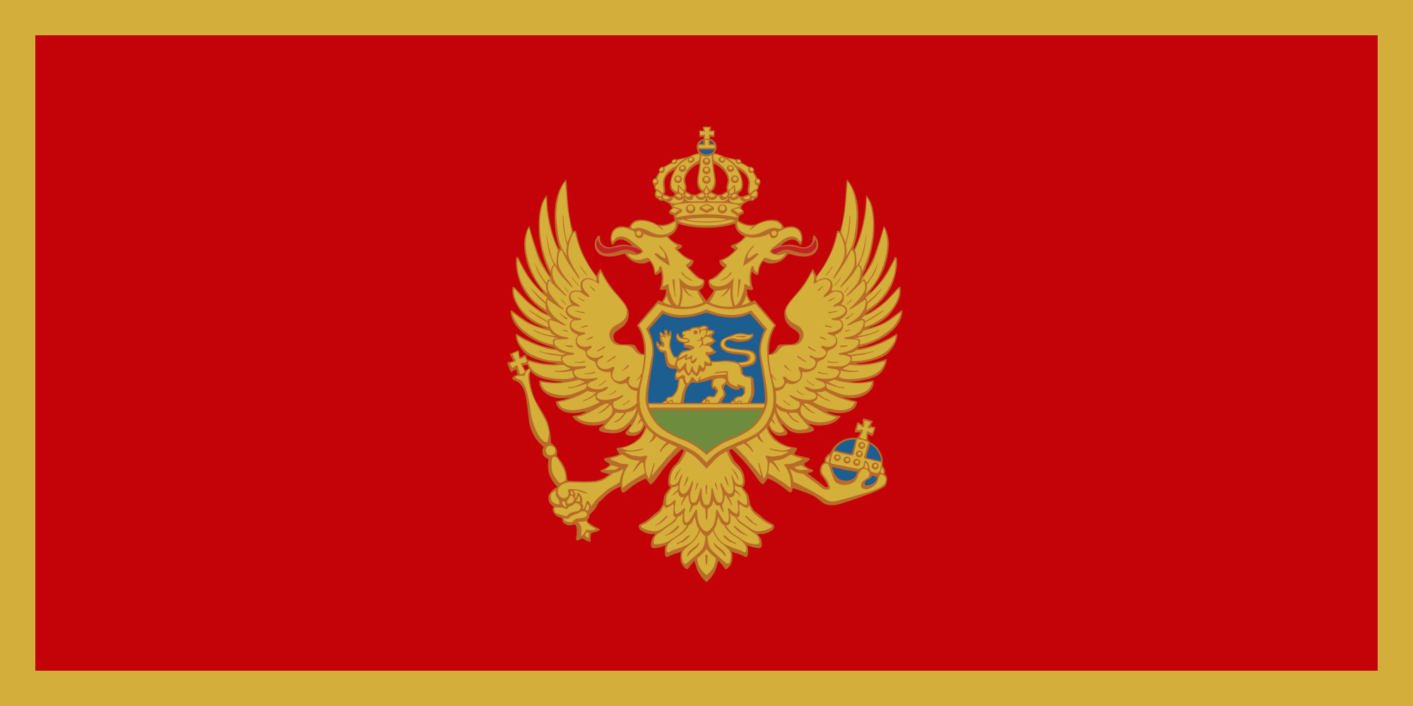 Montenegro Flag Colours