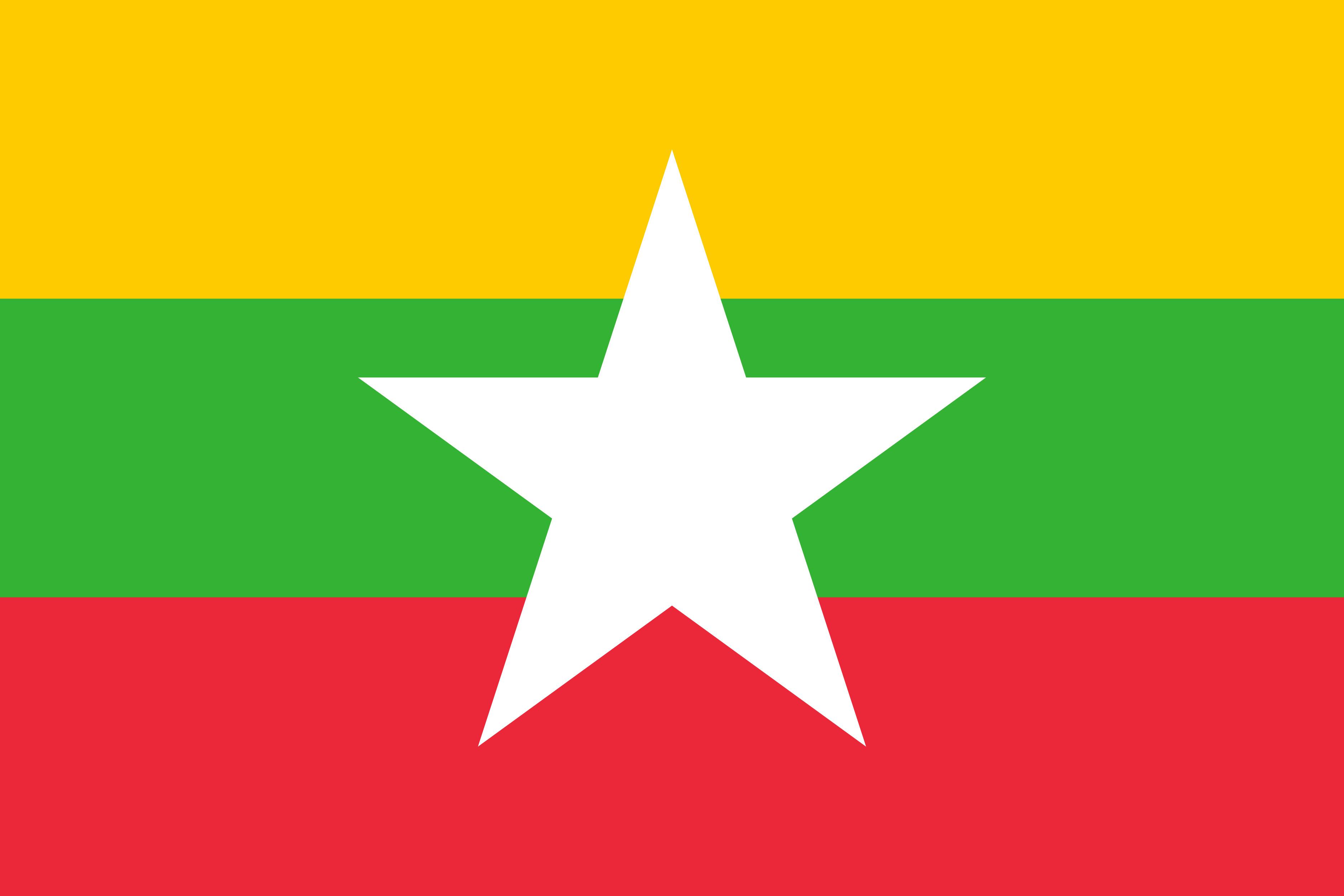 Myanmar Flag Colours