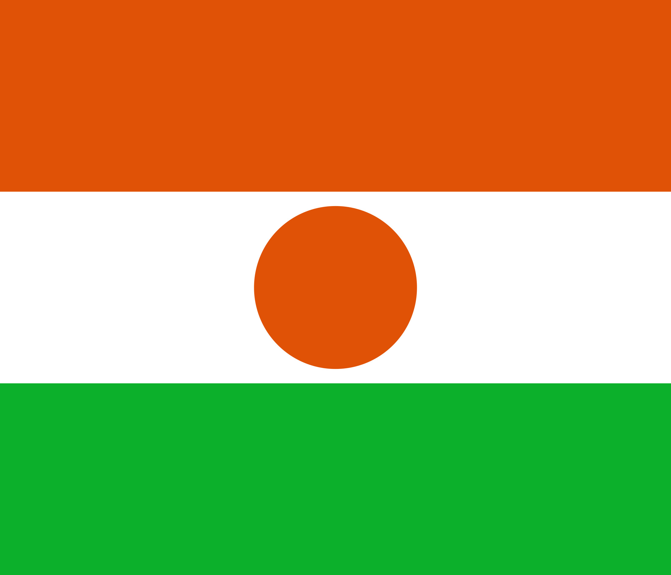 Niger Flag Colours