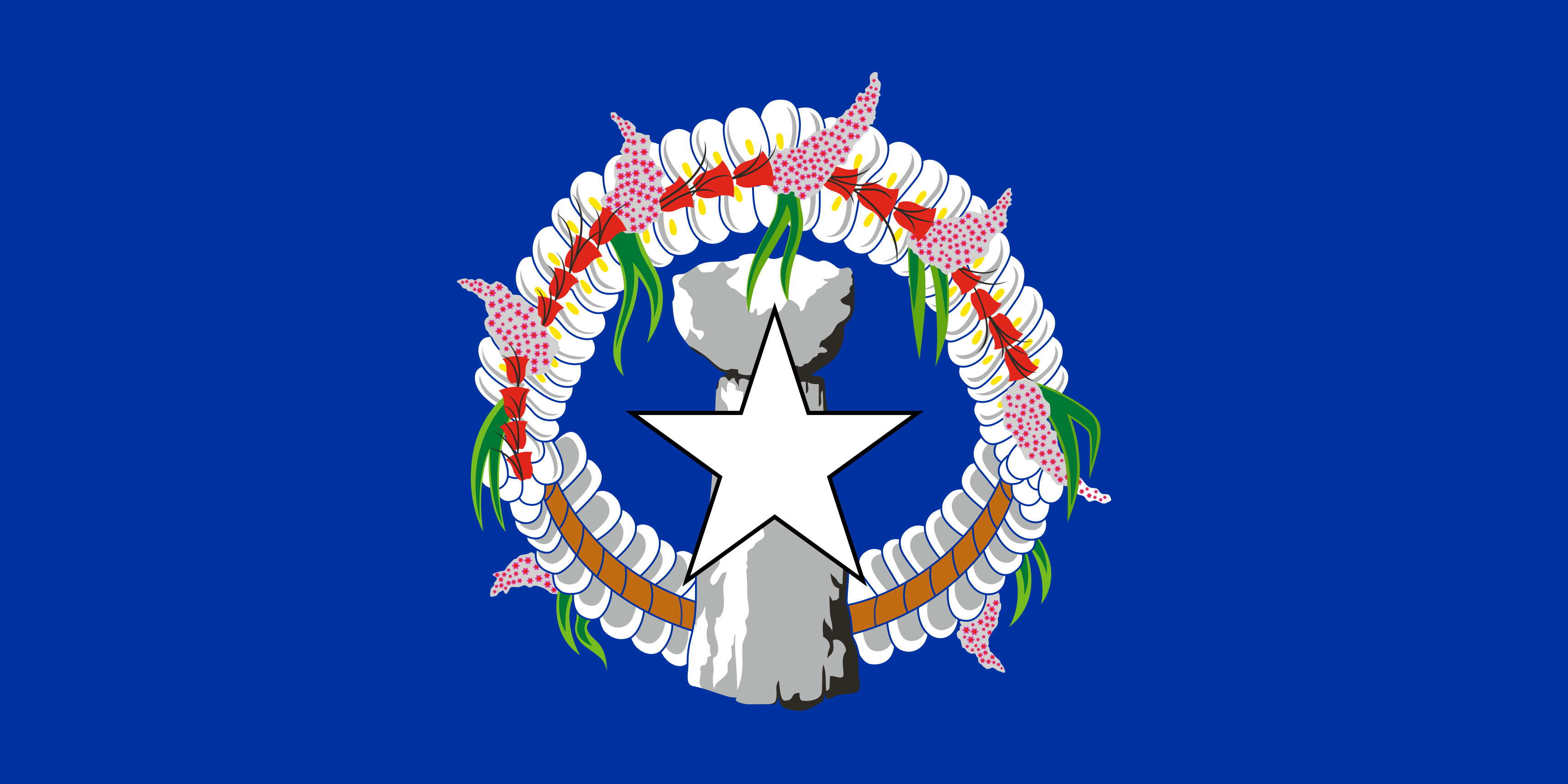 Northern_Mariana_Islands Flag Colours