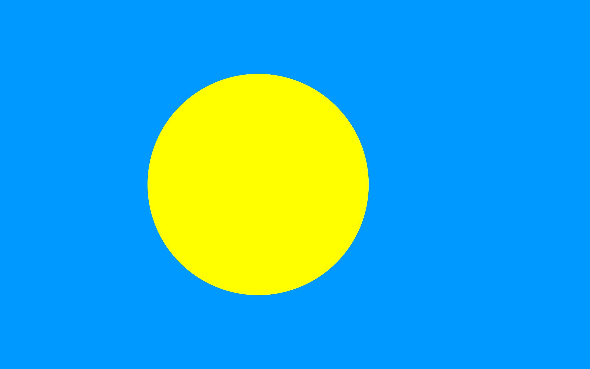 Palau Flag Colours