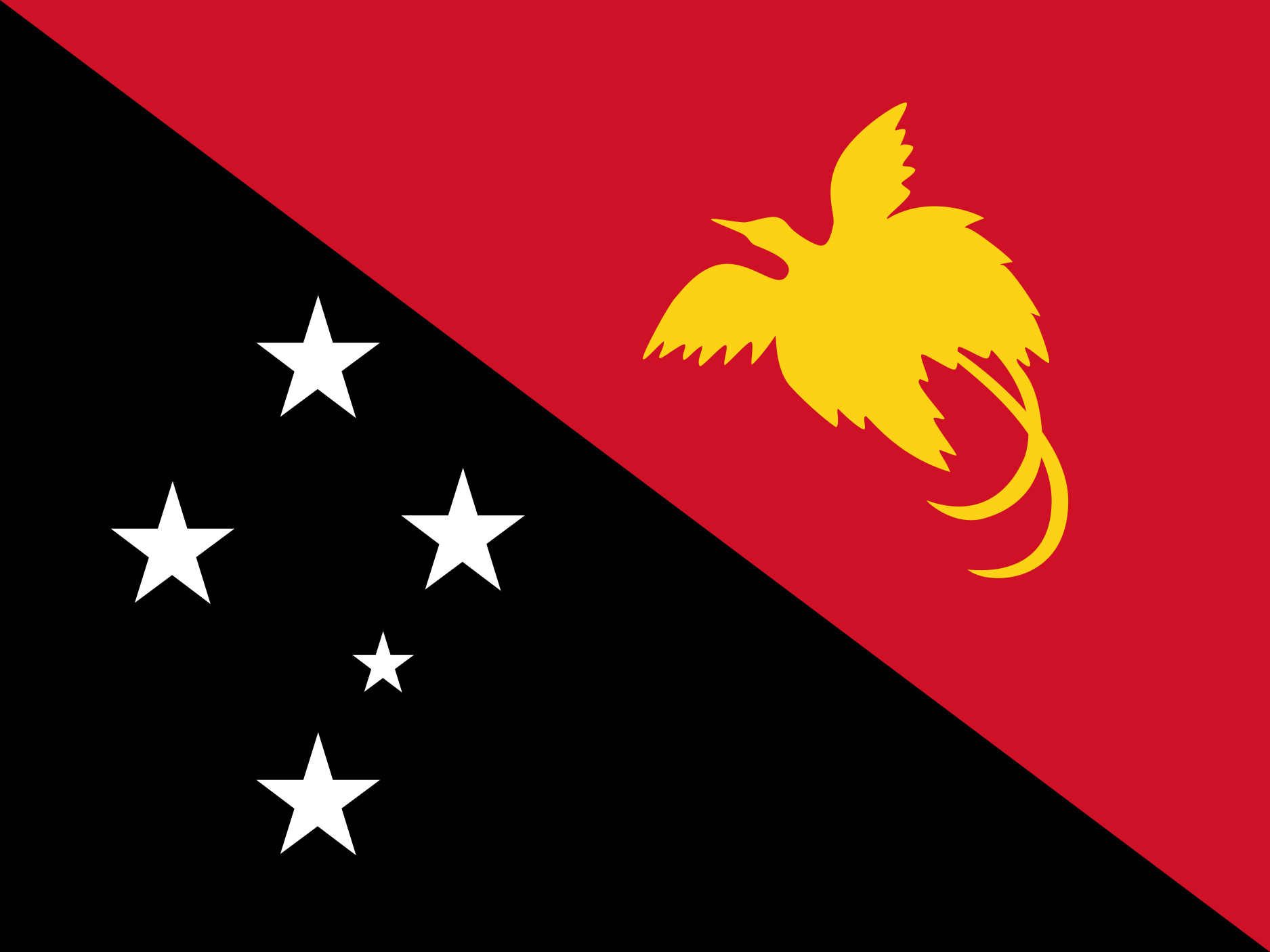 Papua_New_Guinea Flag Colours