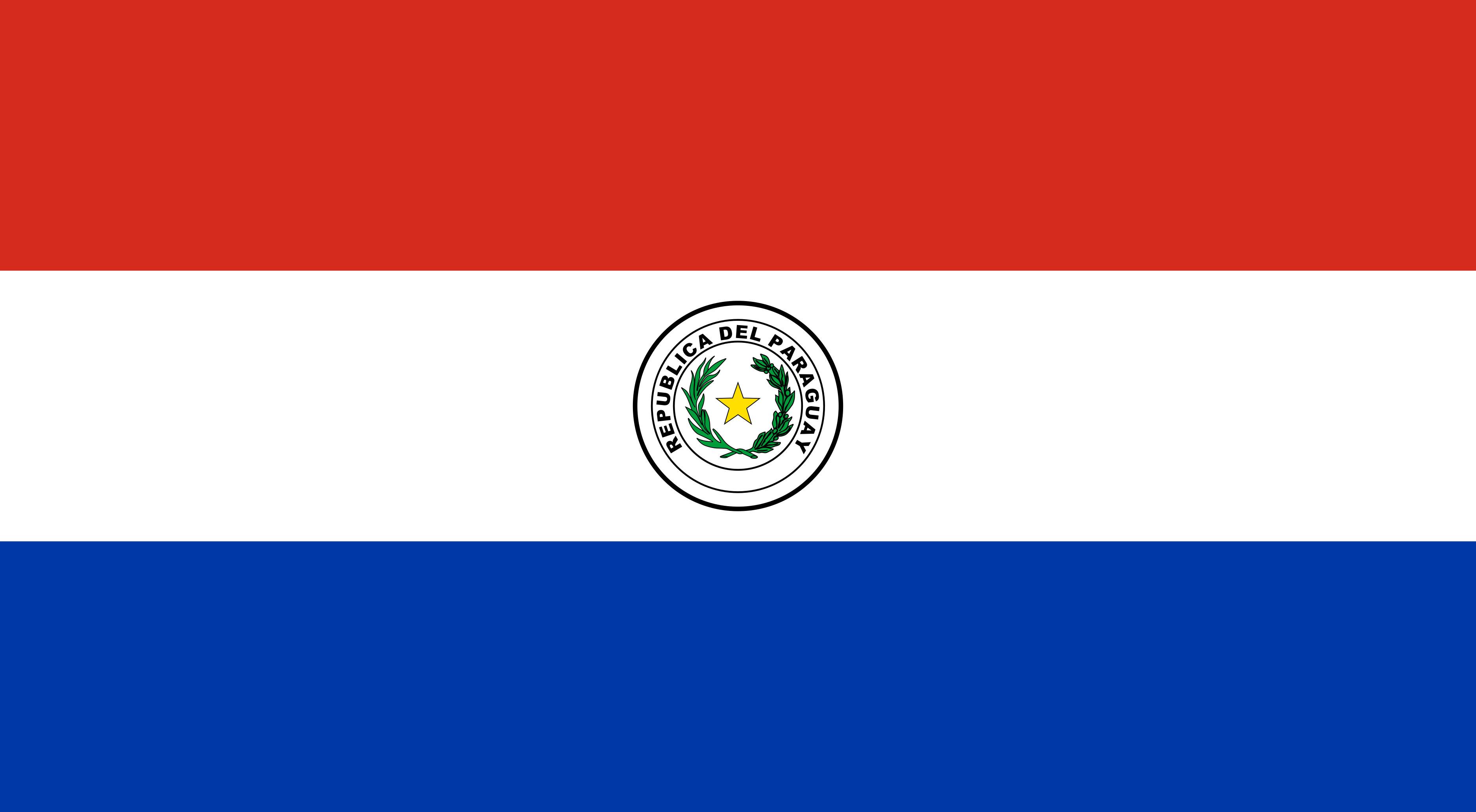 Paraguay Flag Colours