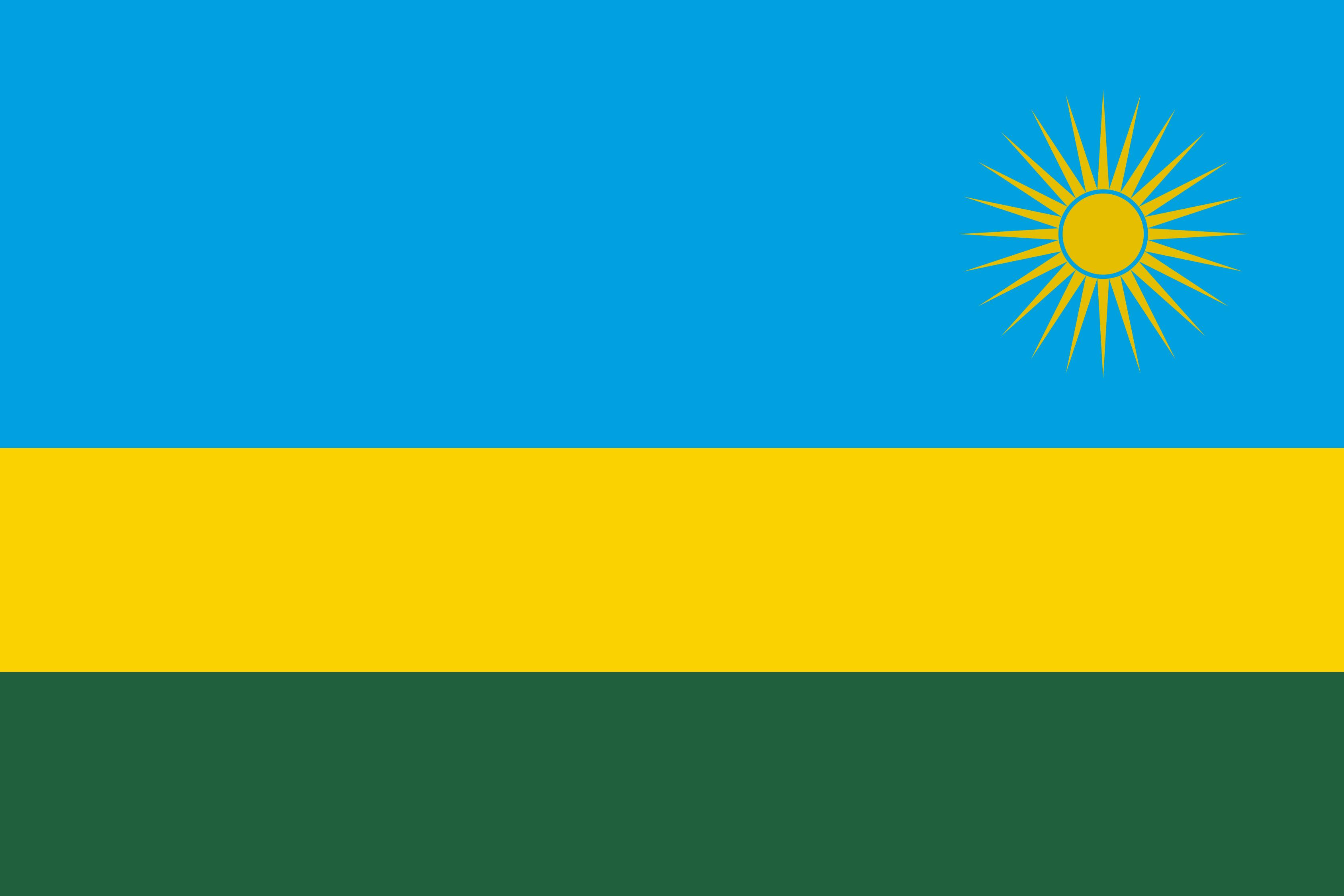 Rwanda Flag Colours