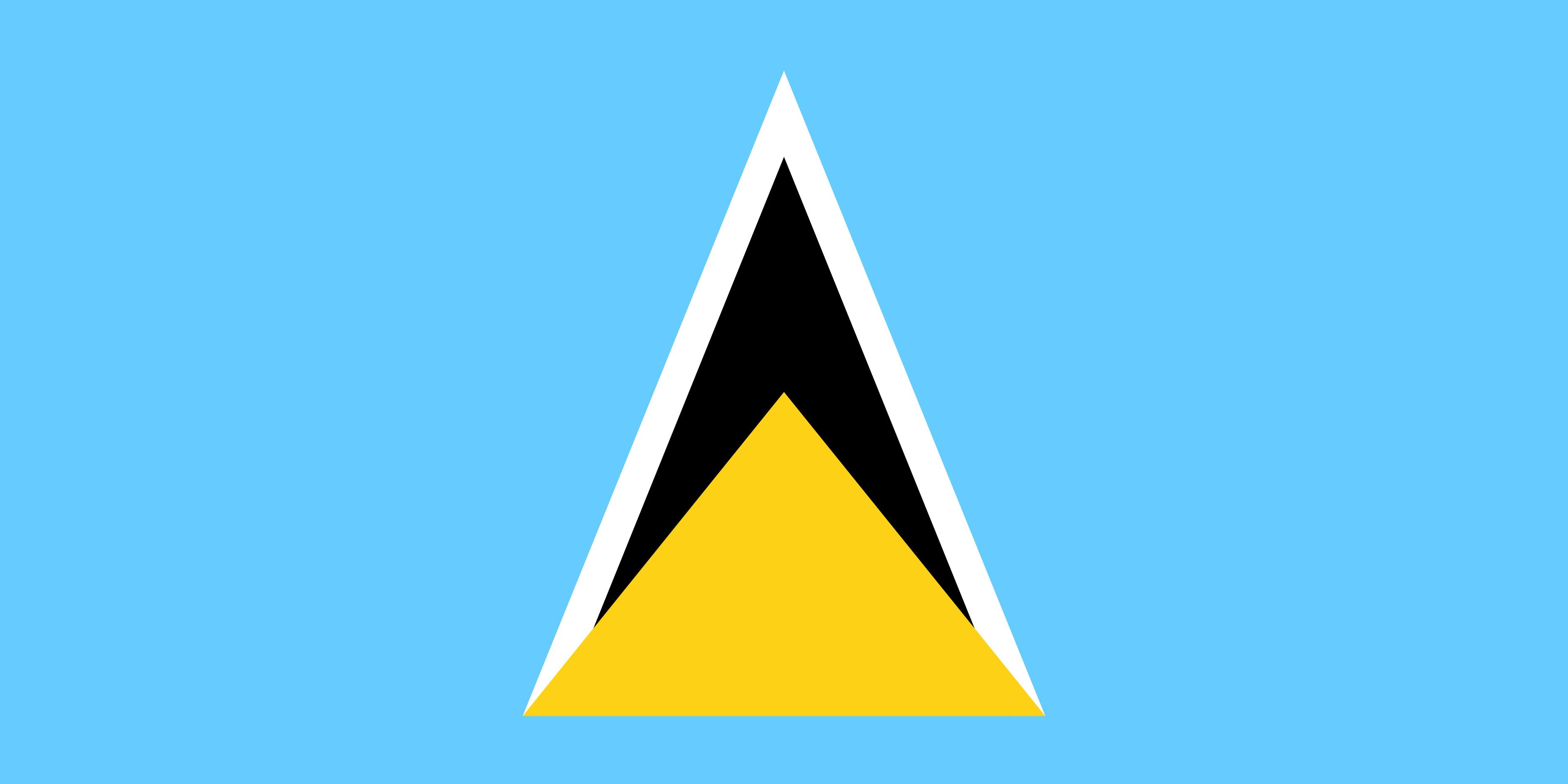 Saint_Lucia Flag Colours