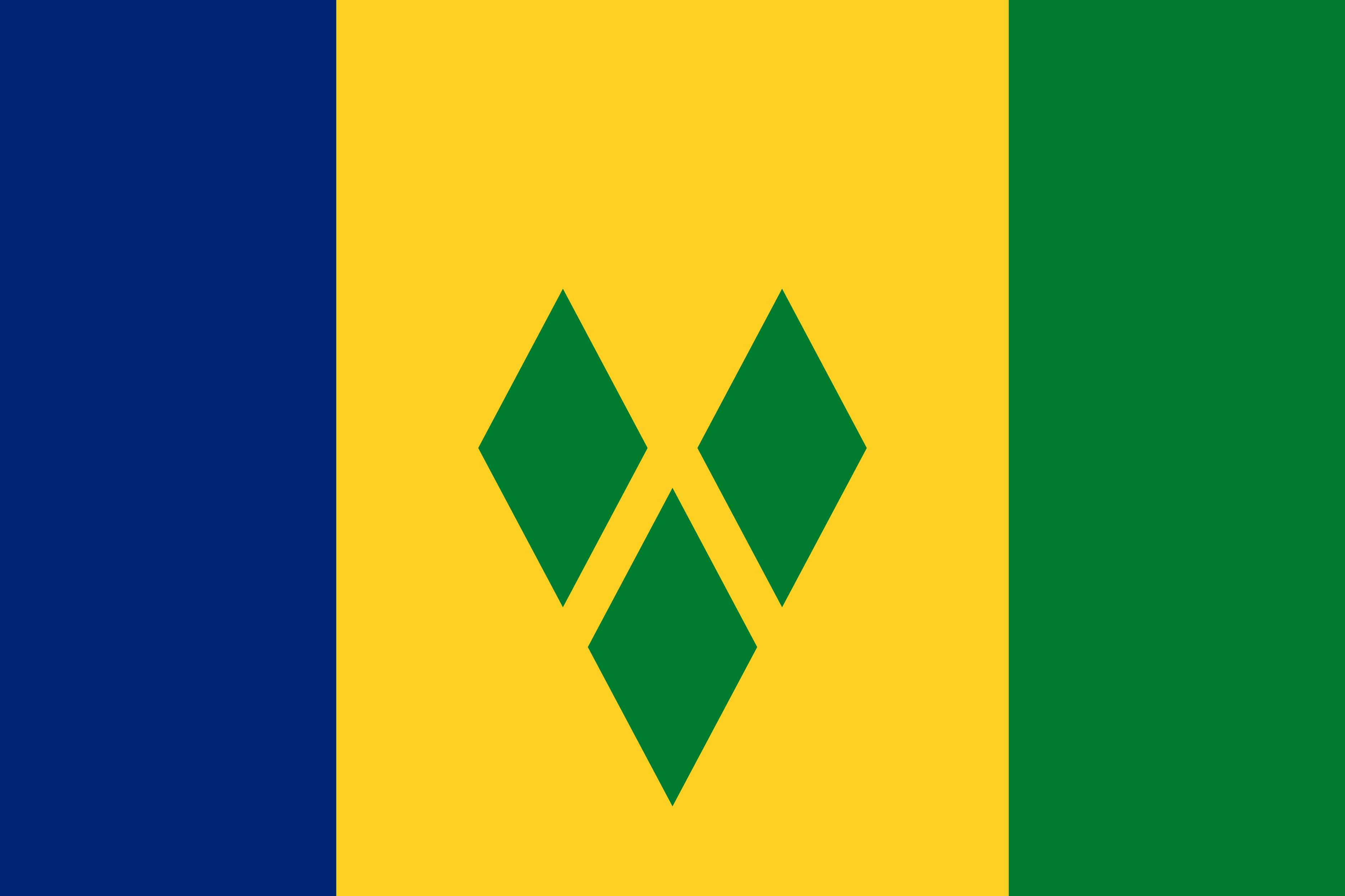 Saint_Vincent_and_Grenadines Flag Colours