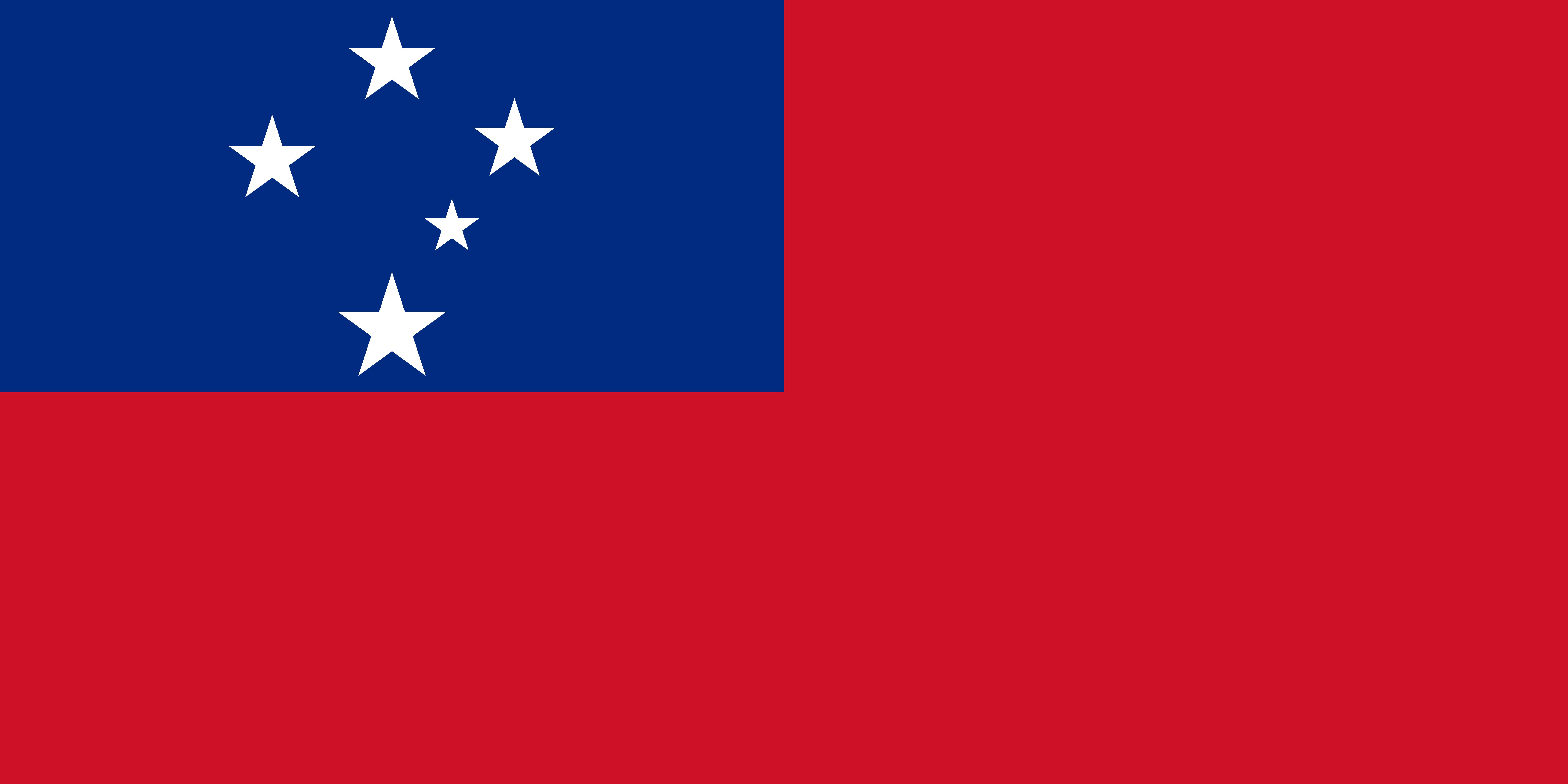 Samoa Flag Colours