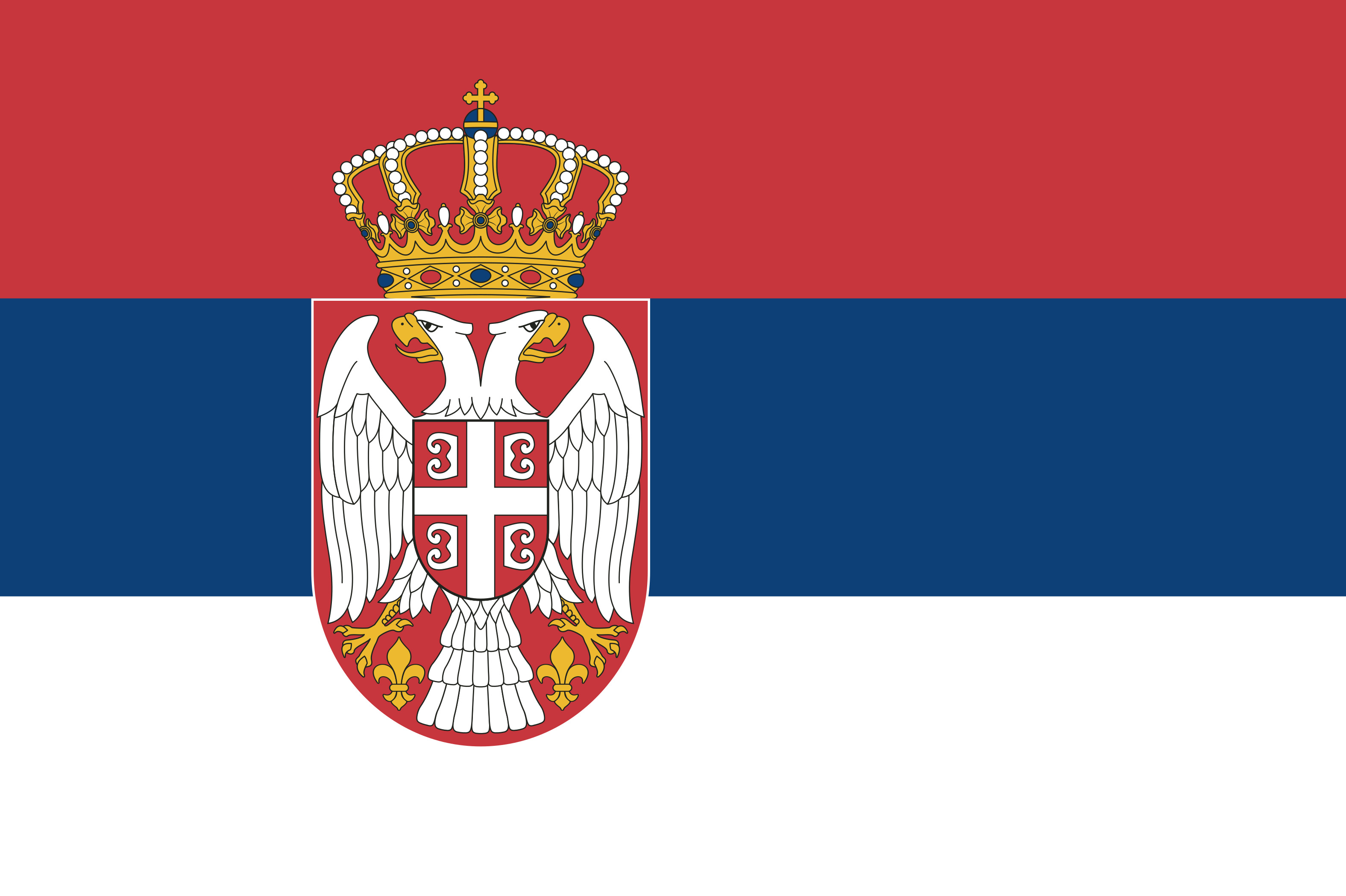 Serbia Flag Colours