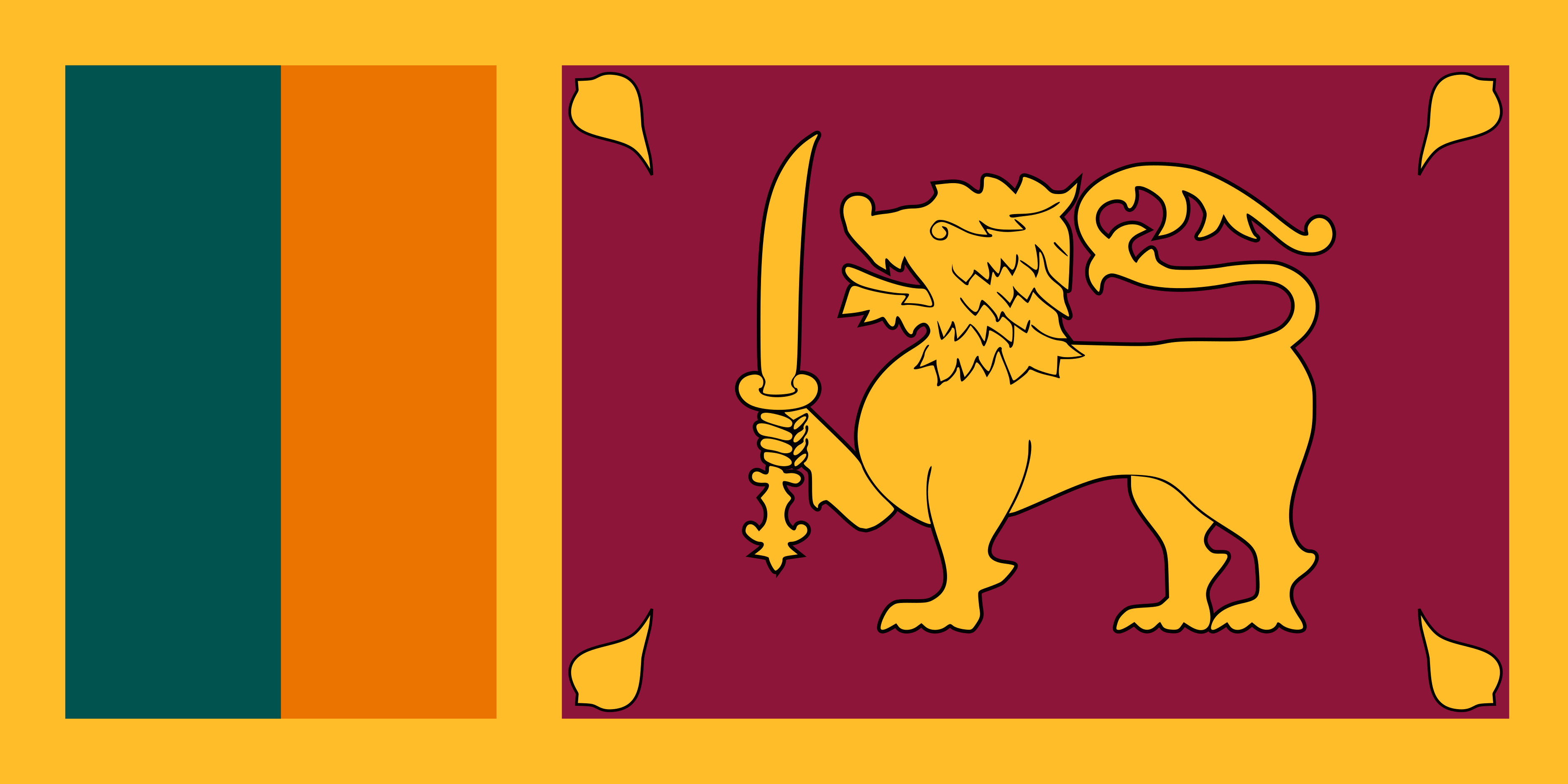 Sri_Lanka Flag Colours