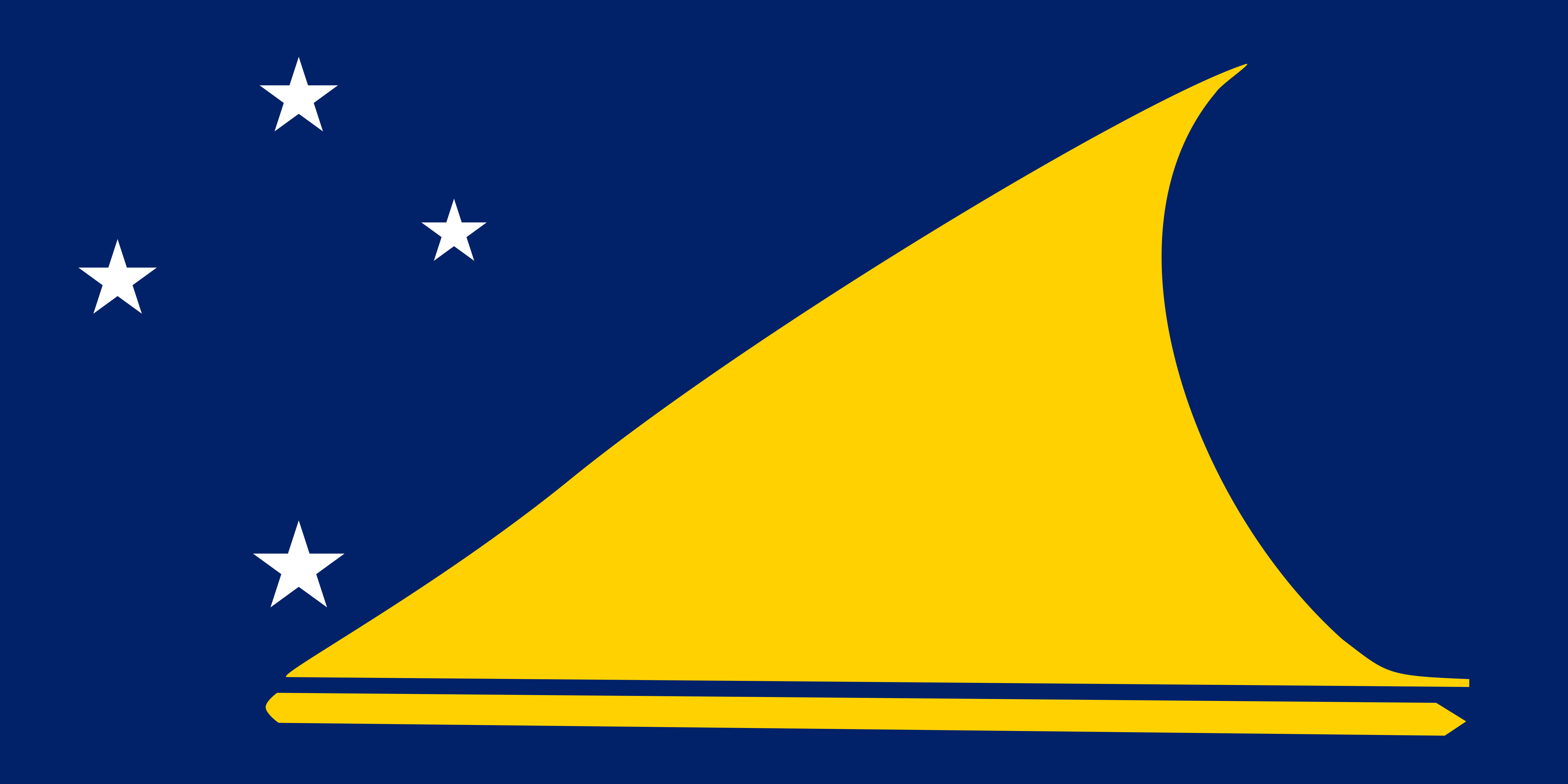 Tokelau Flag Colours
