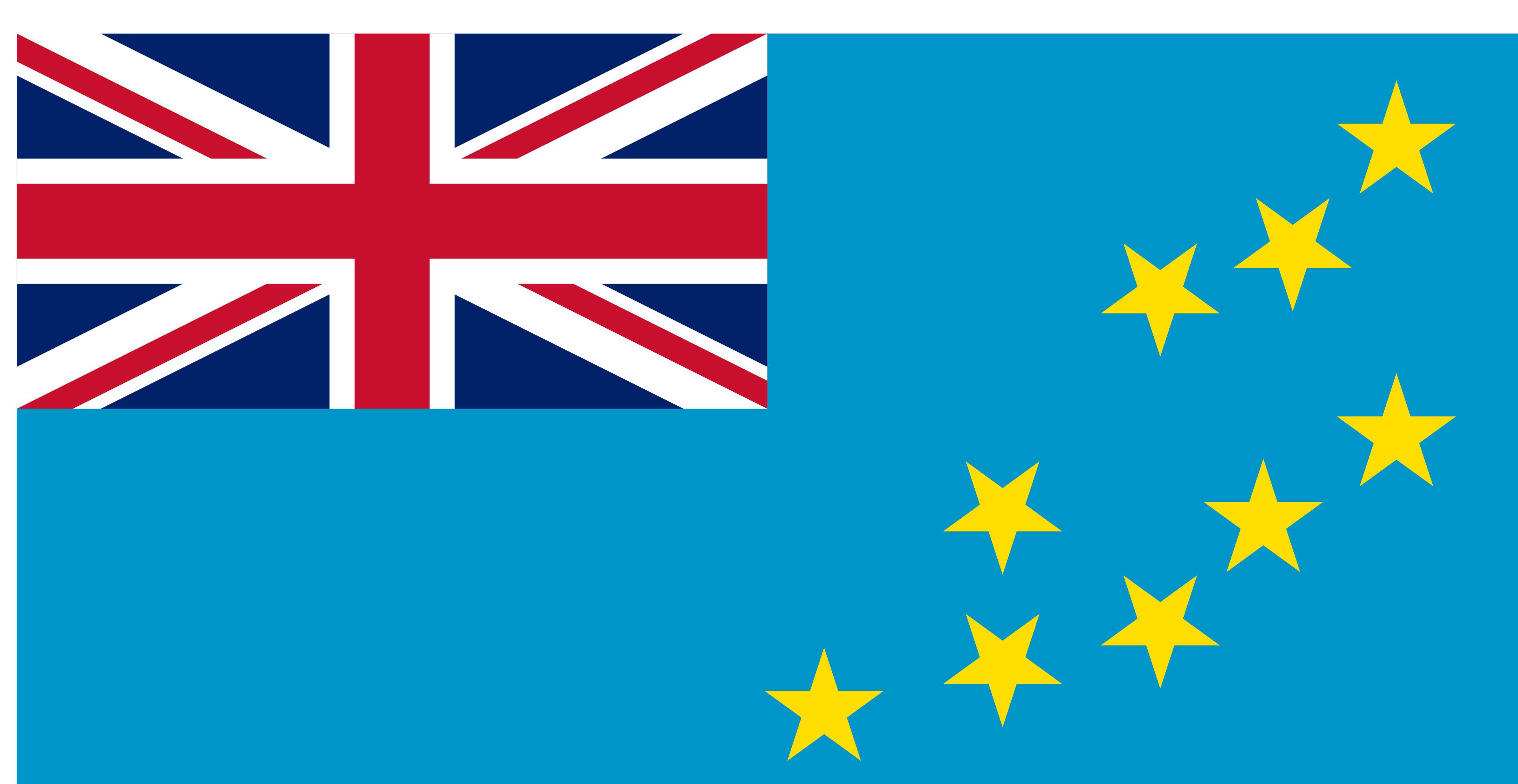 Tuvalu Flag Colours