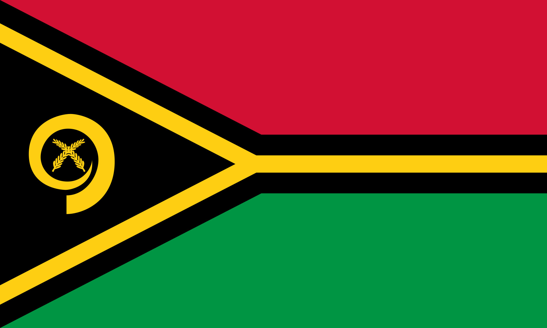 Vanuatu Flag Colours