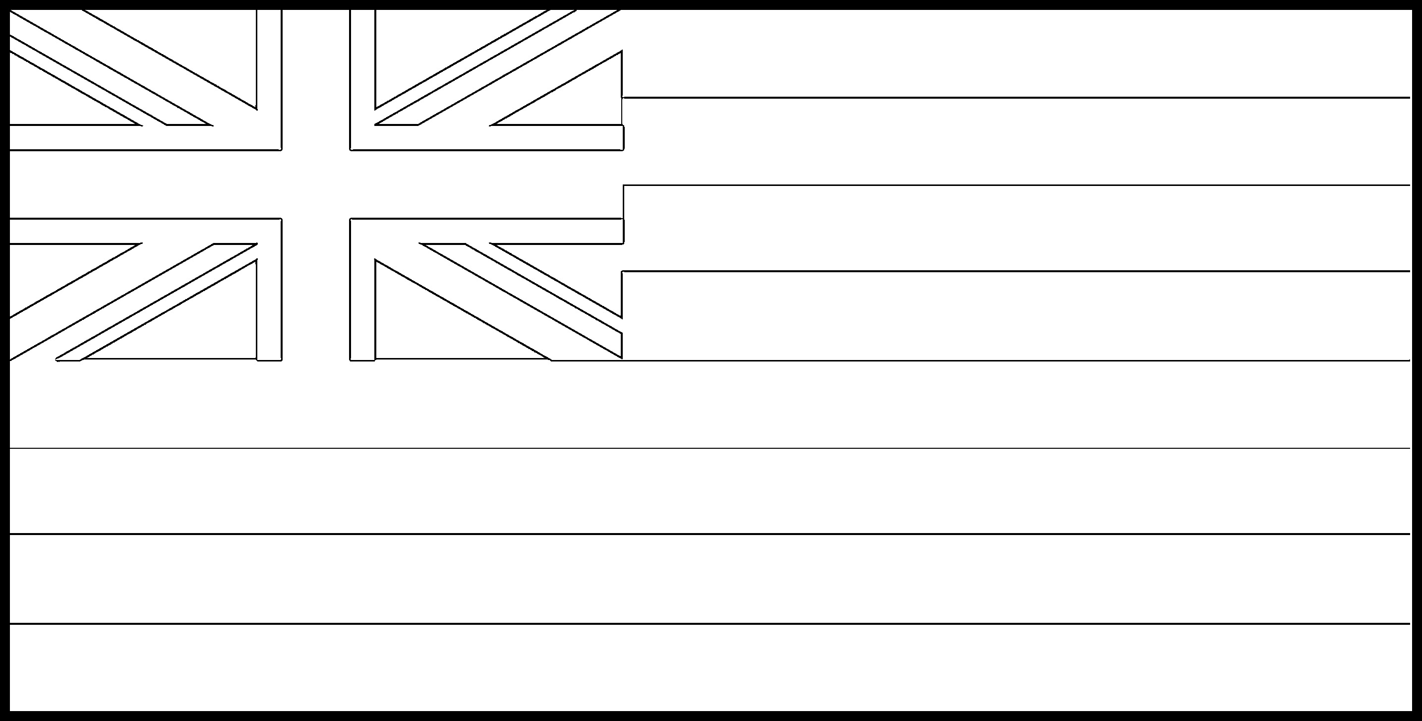 Hawaii Flag Coloring Page - State Flag Drawing - Flags Web