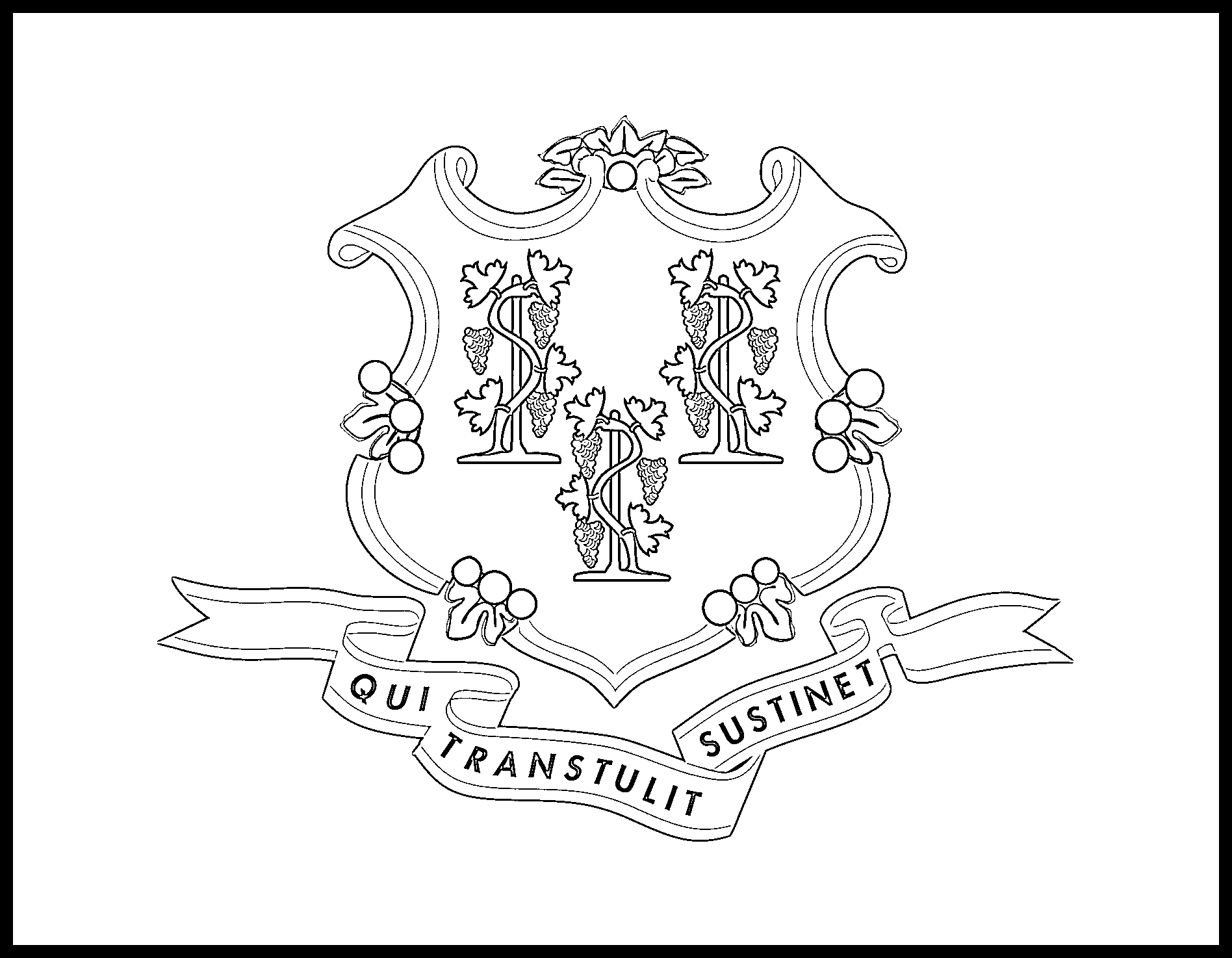 Connecticut Flag Coloring Page