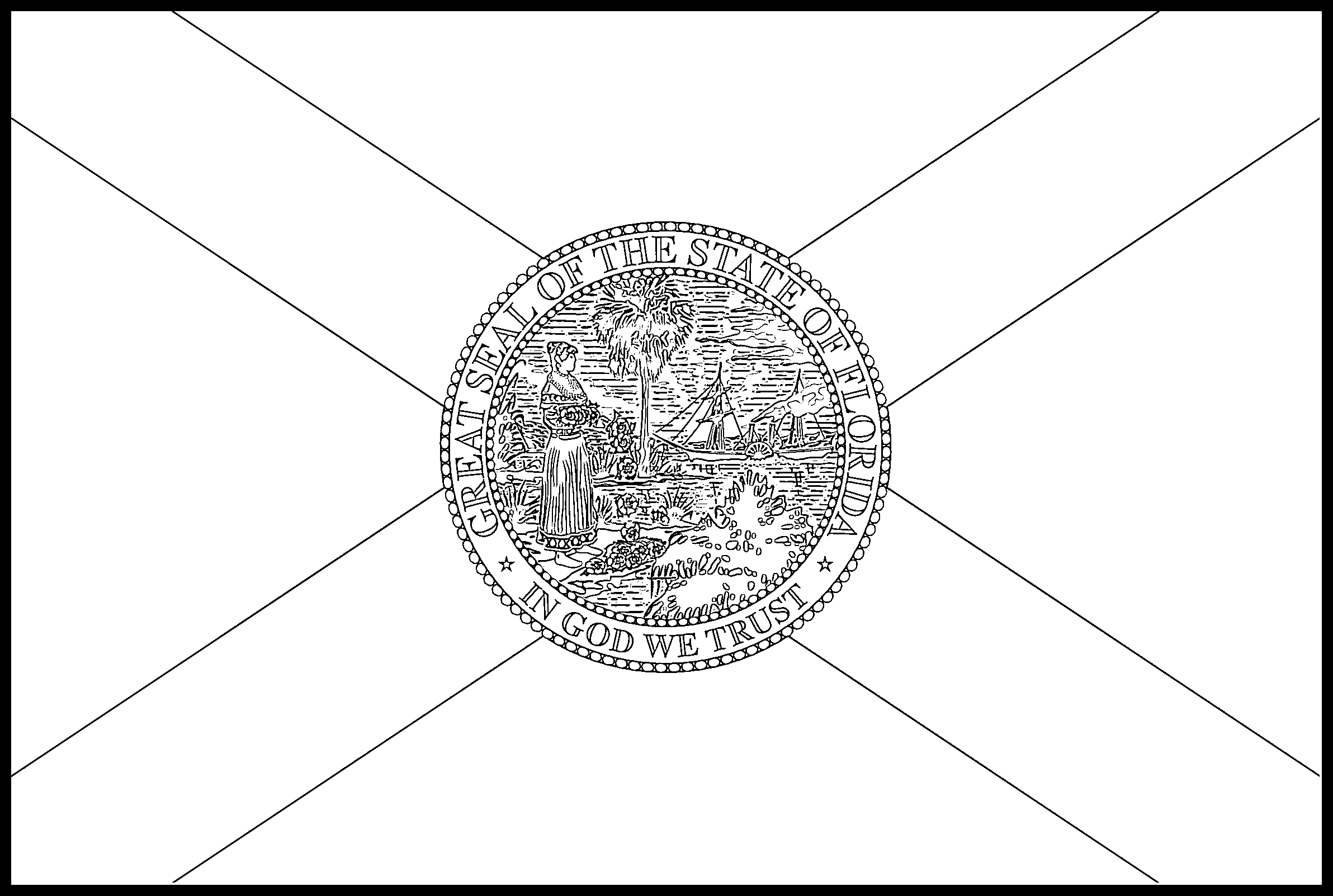 Florida Flag Coloring Page