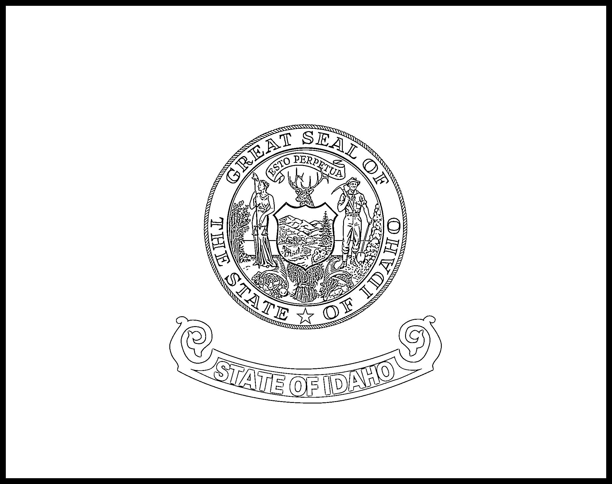 Idaho Flag Coloring Page
