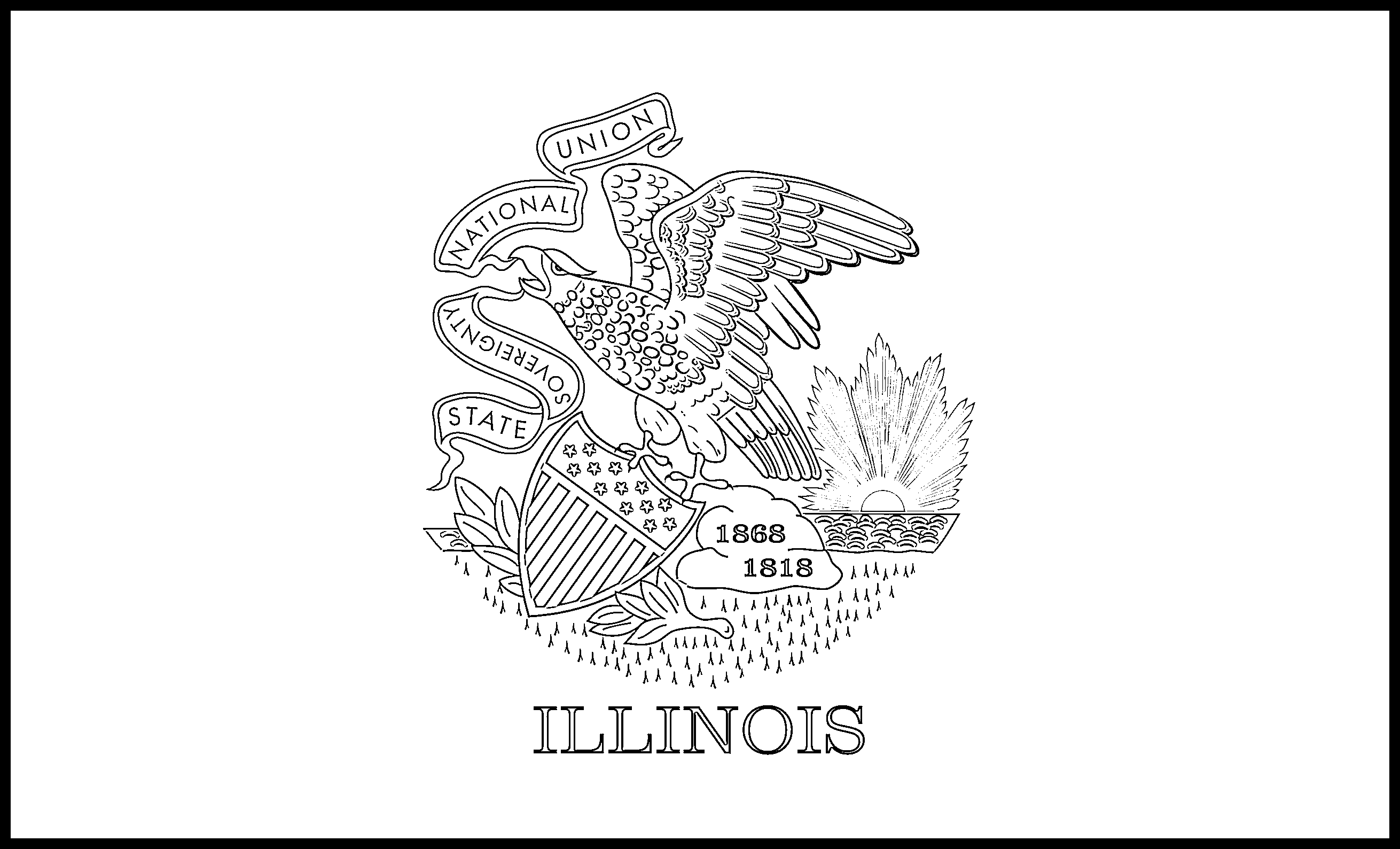 Illinois Flag Coloring Page