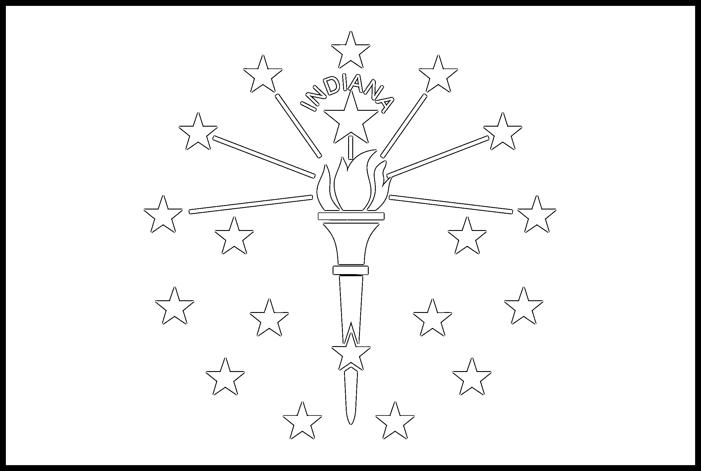 Indiana Flag Coloring Page