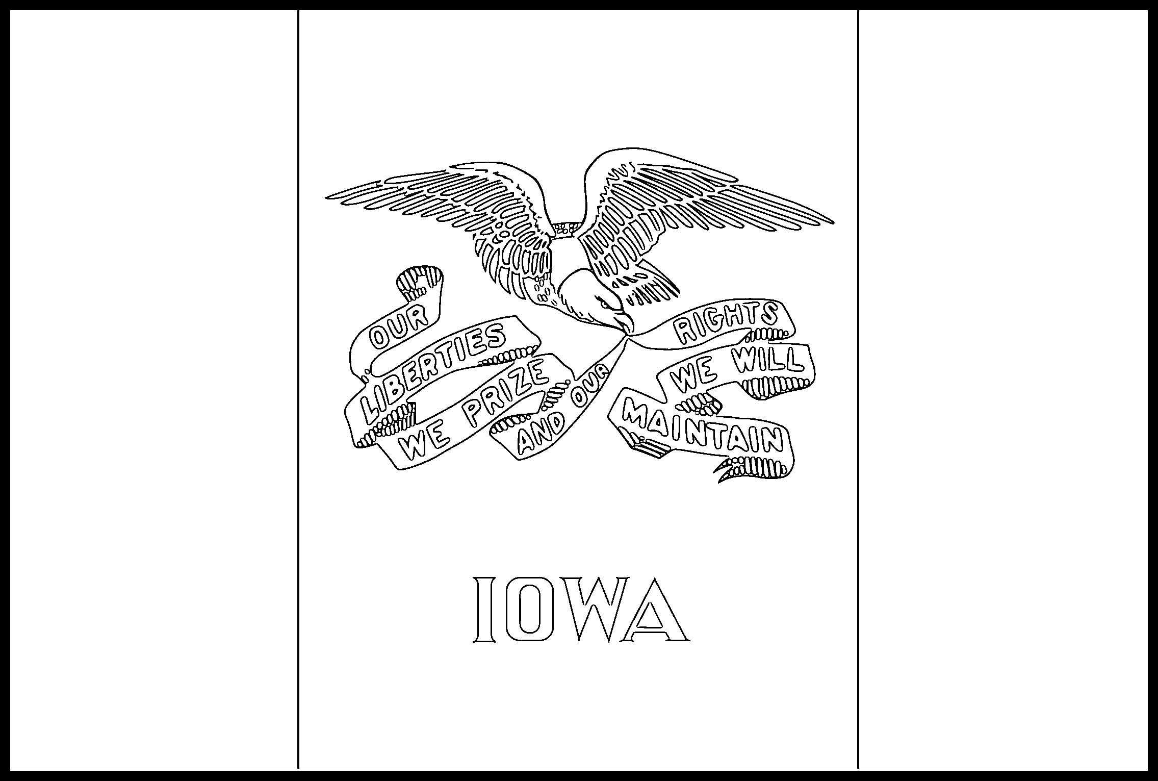 Iowa Flag Coloring Page