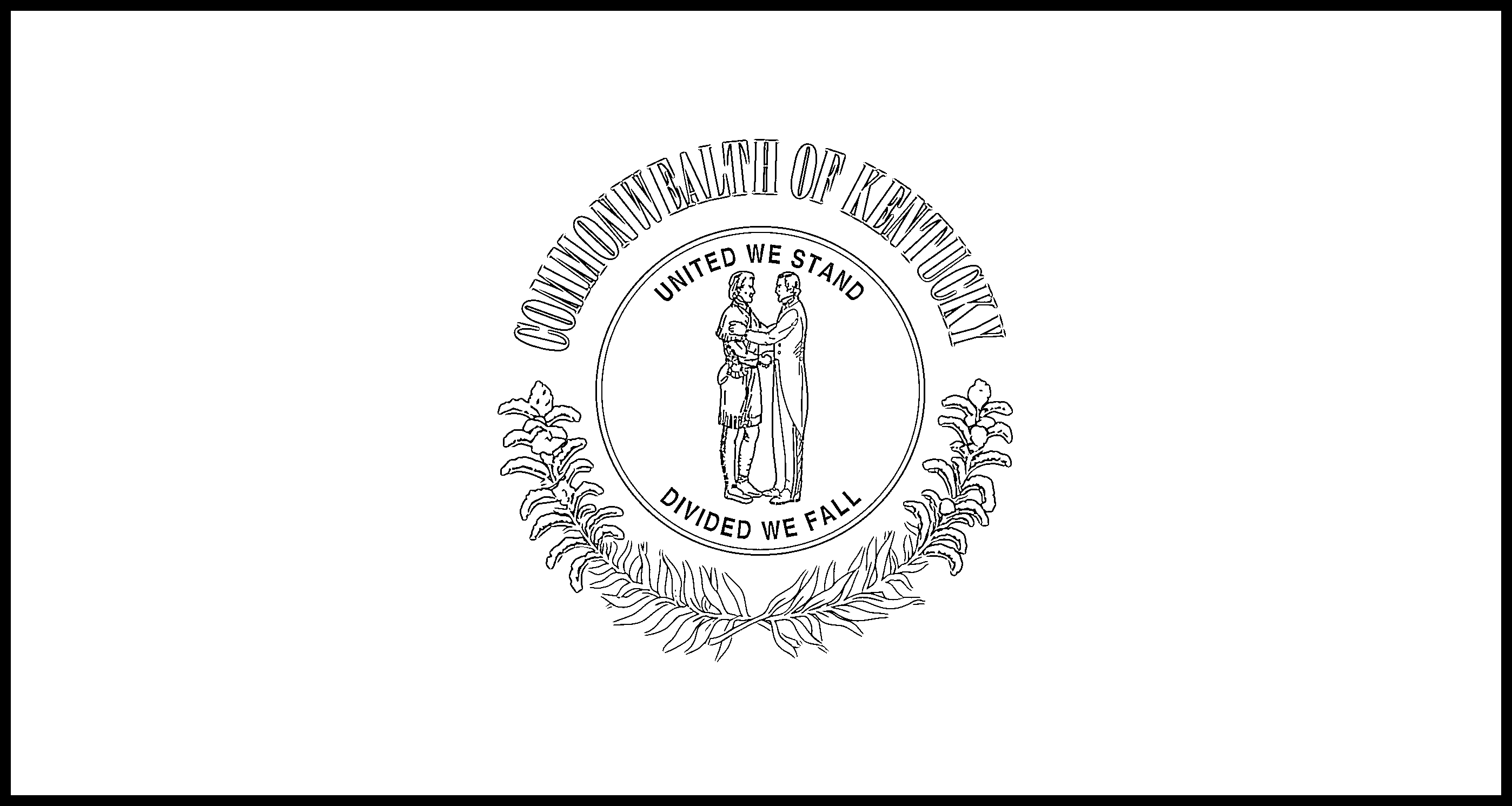 Kentucky Flag Coloring Page