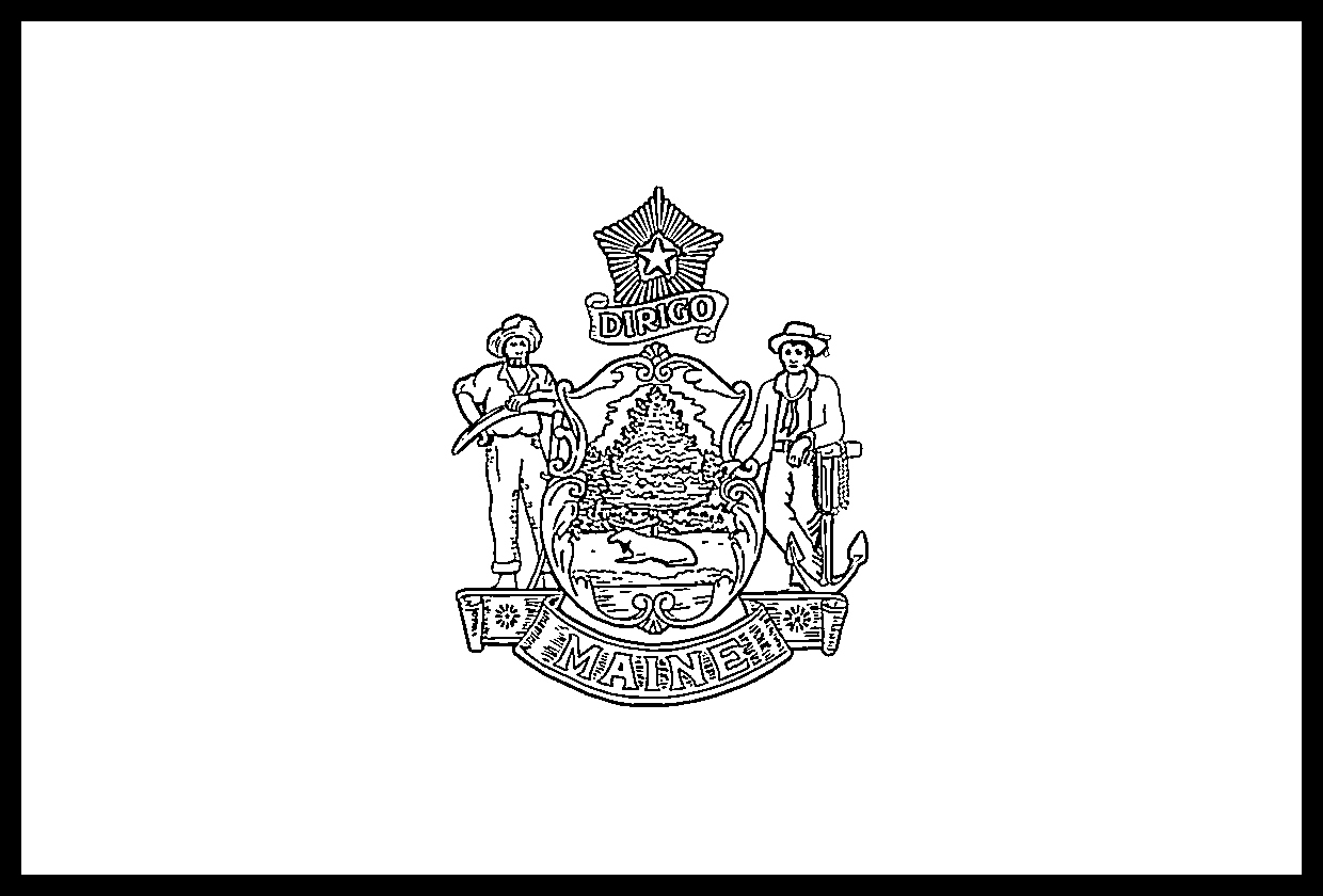 Maine Flag Coloring Page