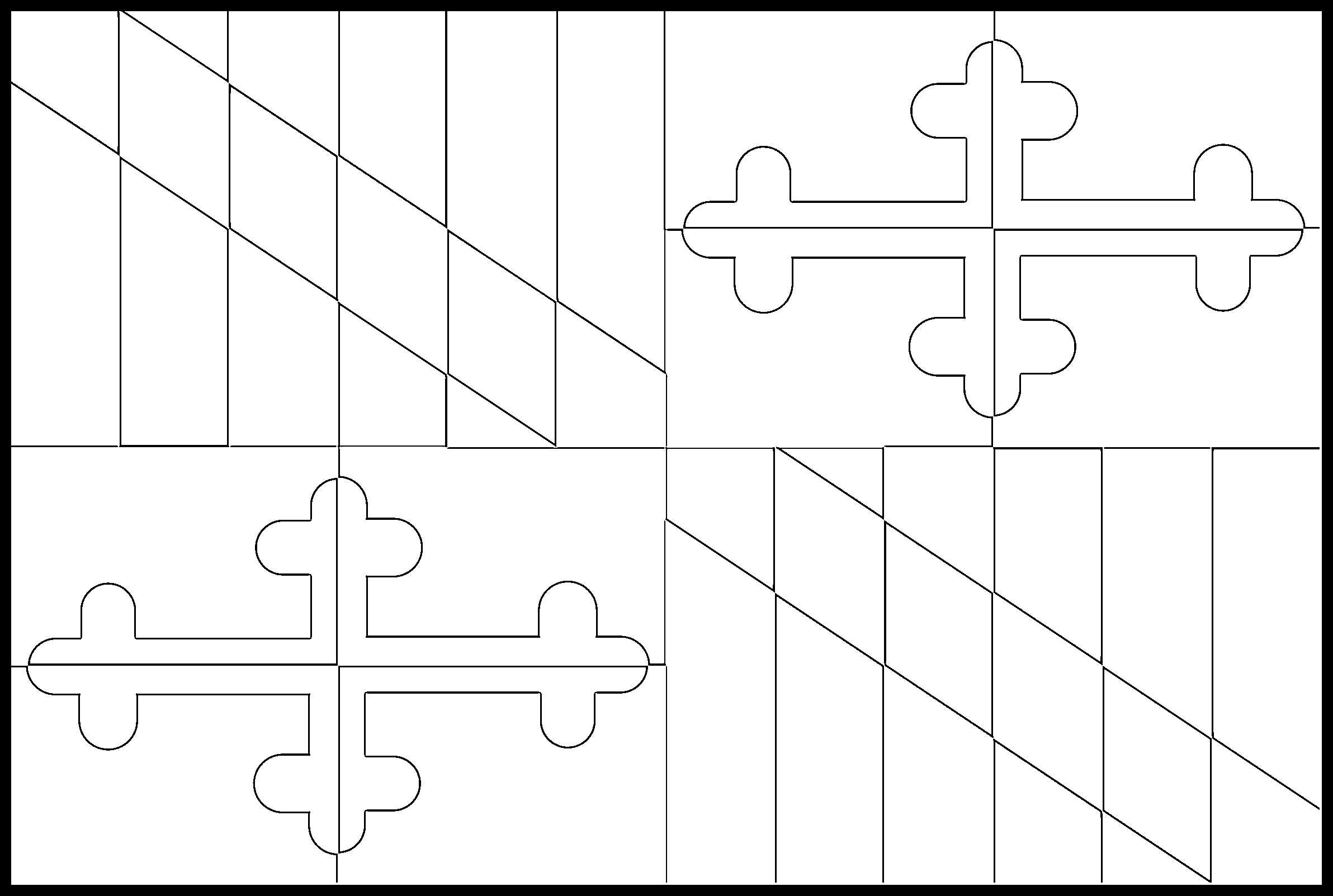 Maryland Flag Coloring Page