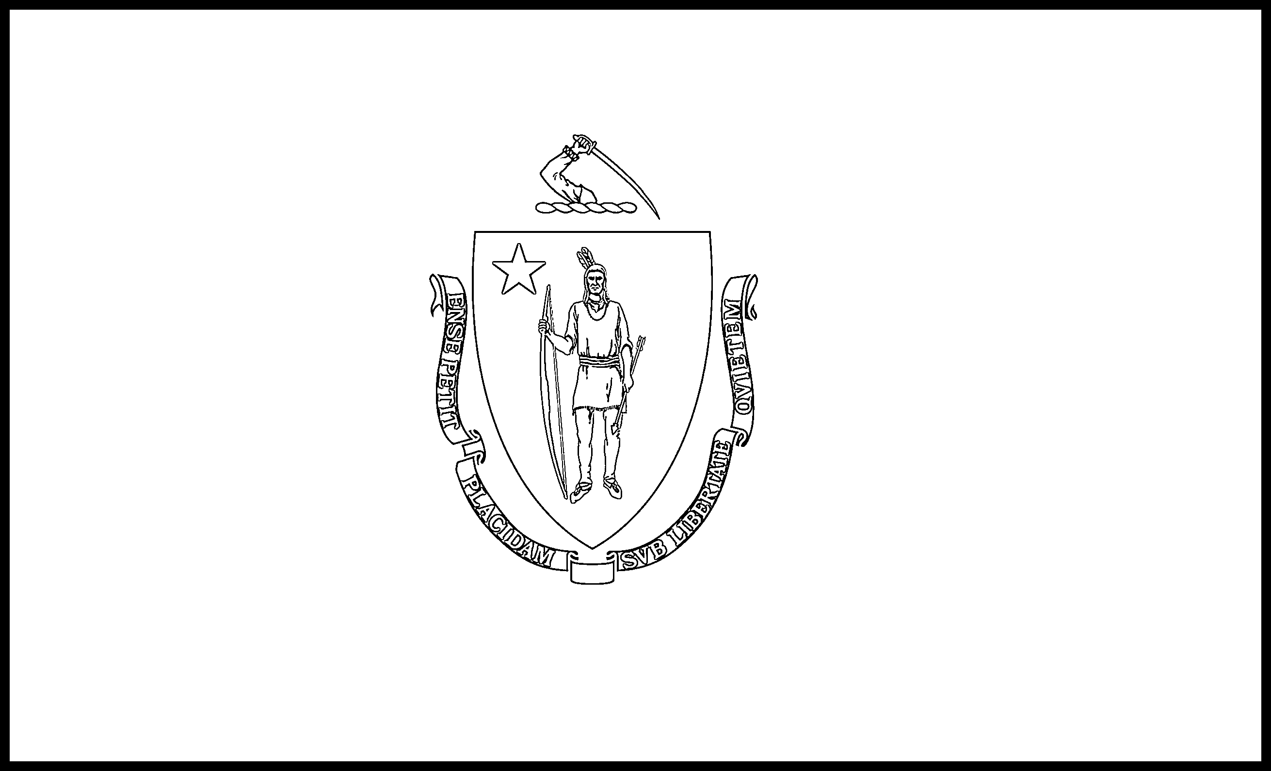Massachusetts Flag Coloring Page