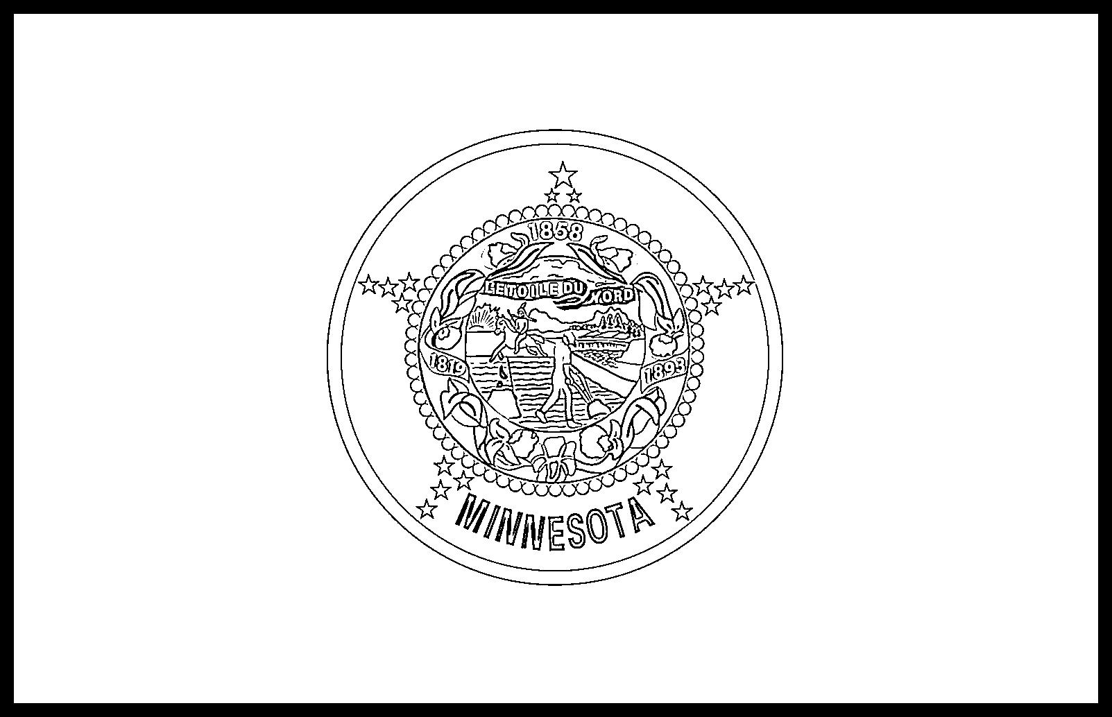 Minnesota Flag Coloring Page