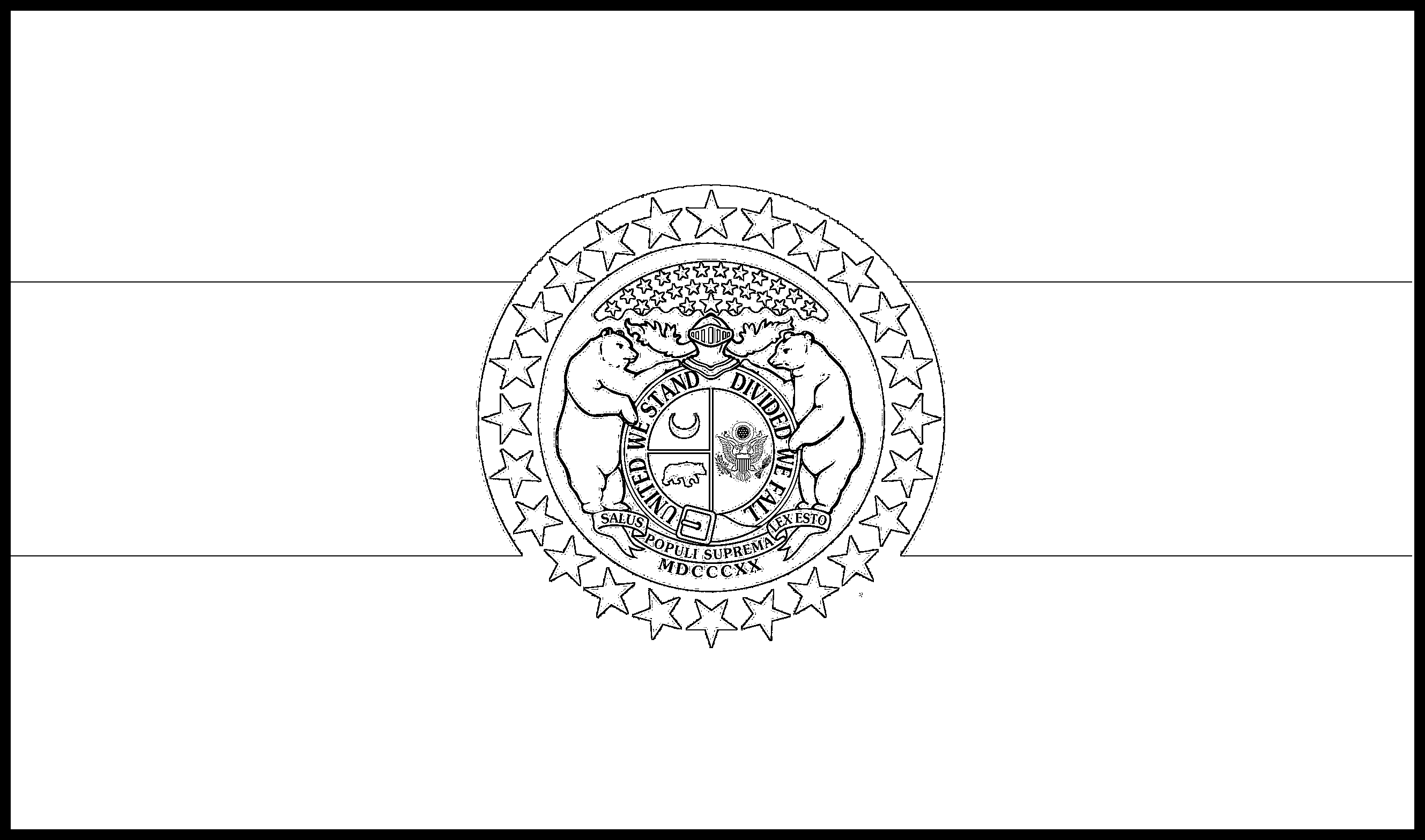 Missouri Flag Coloring Page