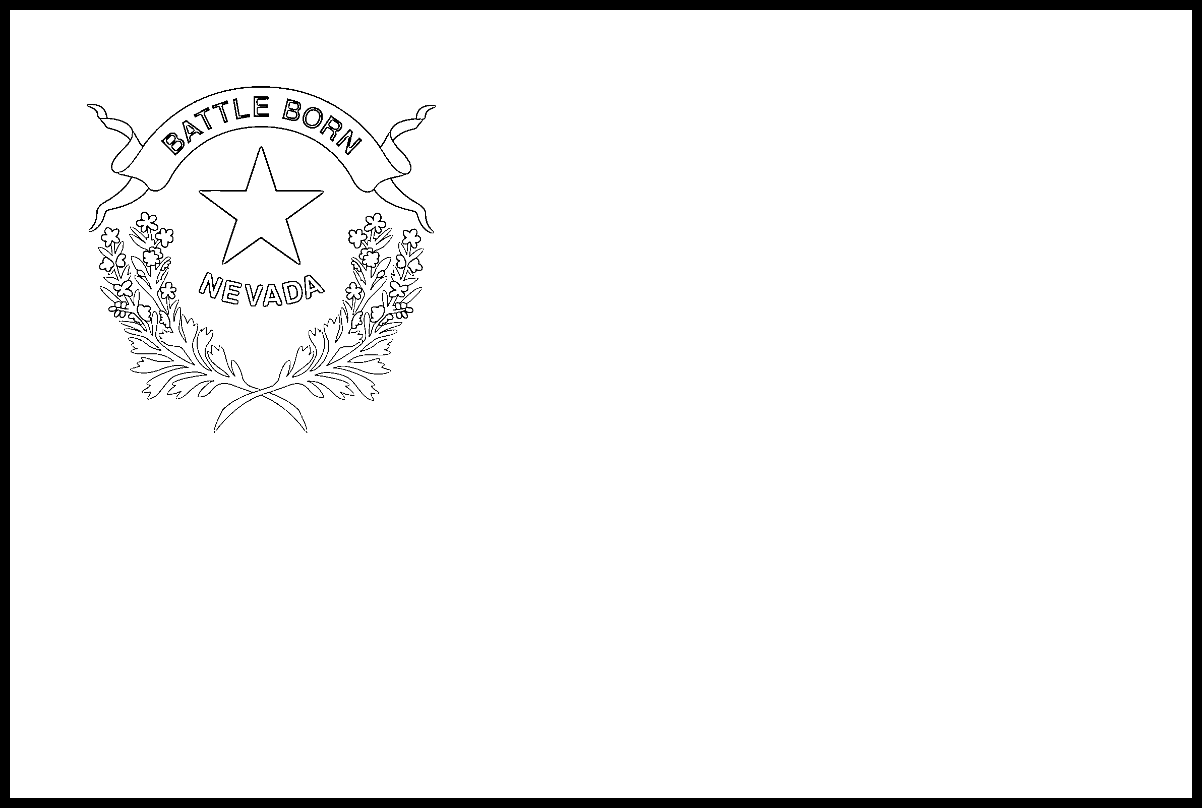 Nevada Flag Coloring Page