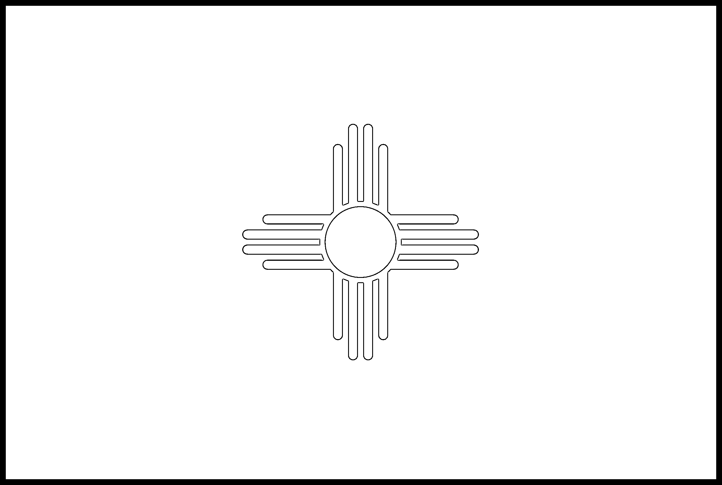New_Mexico Flag Coloring Page