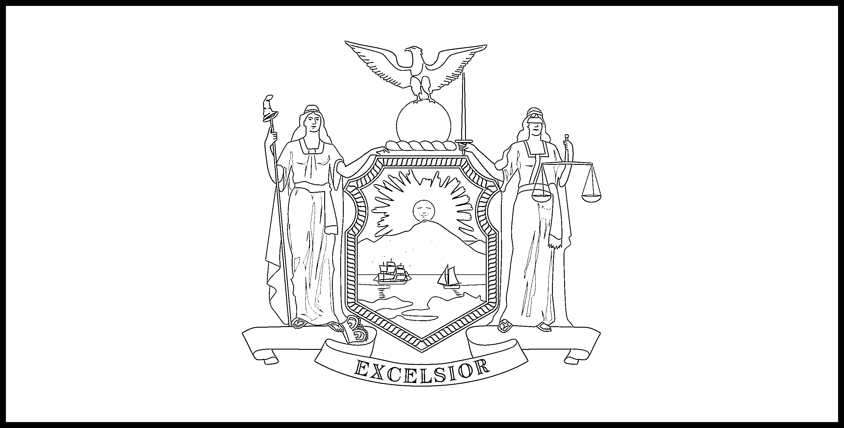 New_York Flag Coloring Page